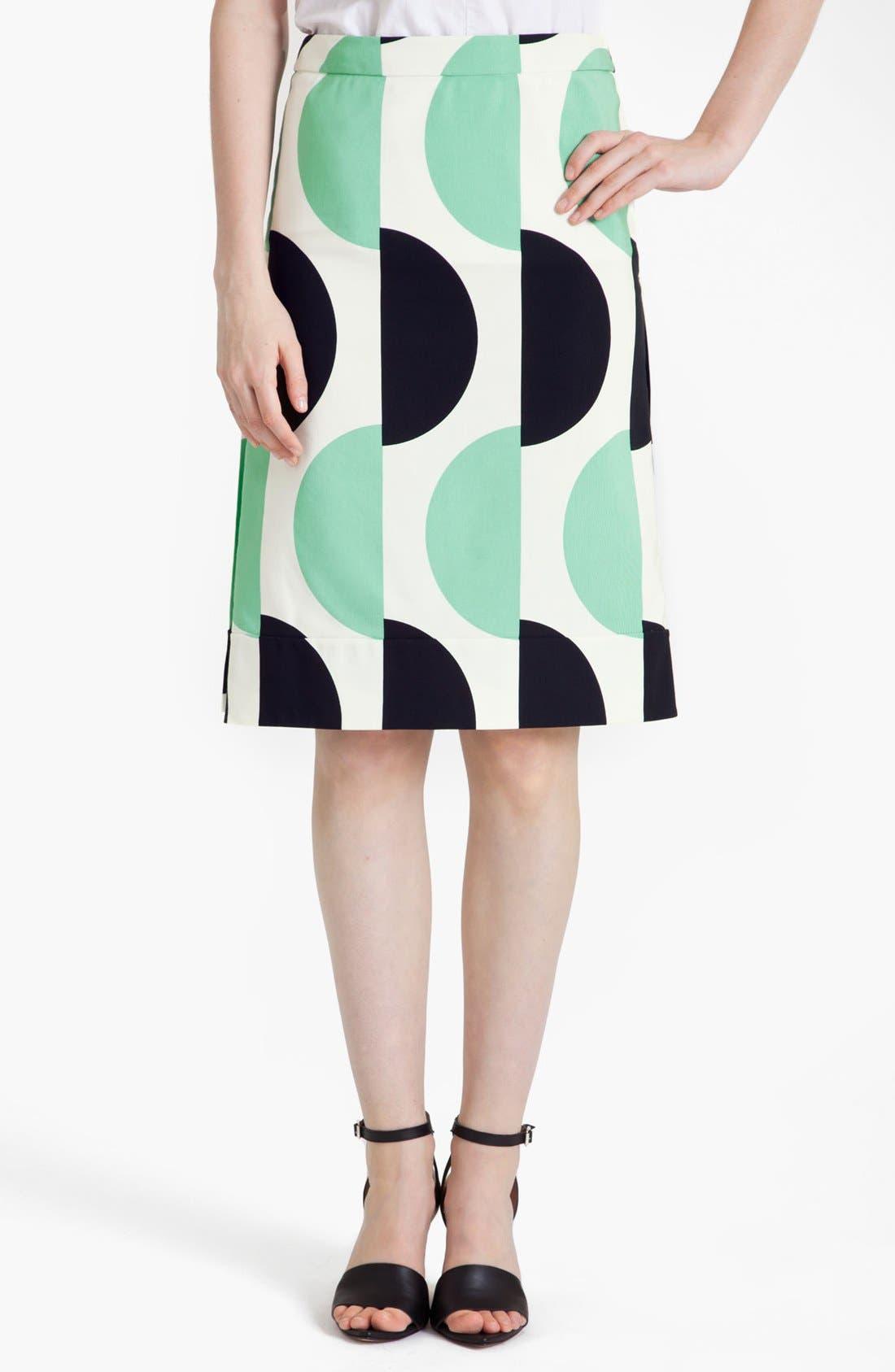Alternate Image 1 Selected - Marni Large Dot Print Pencil Skirt