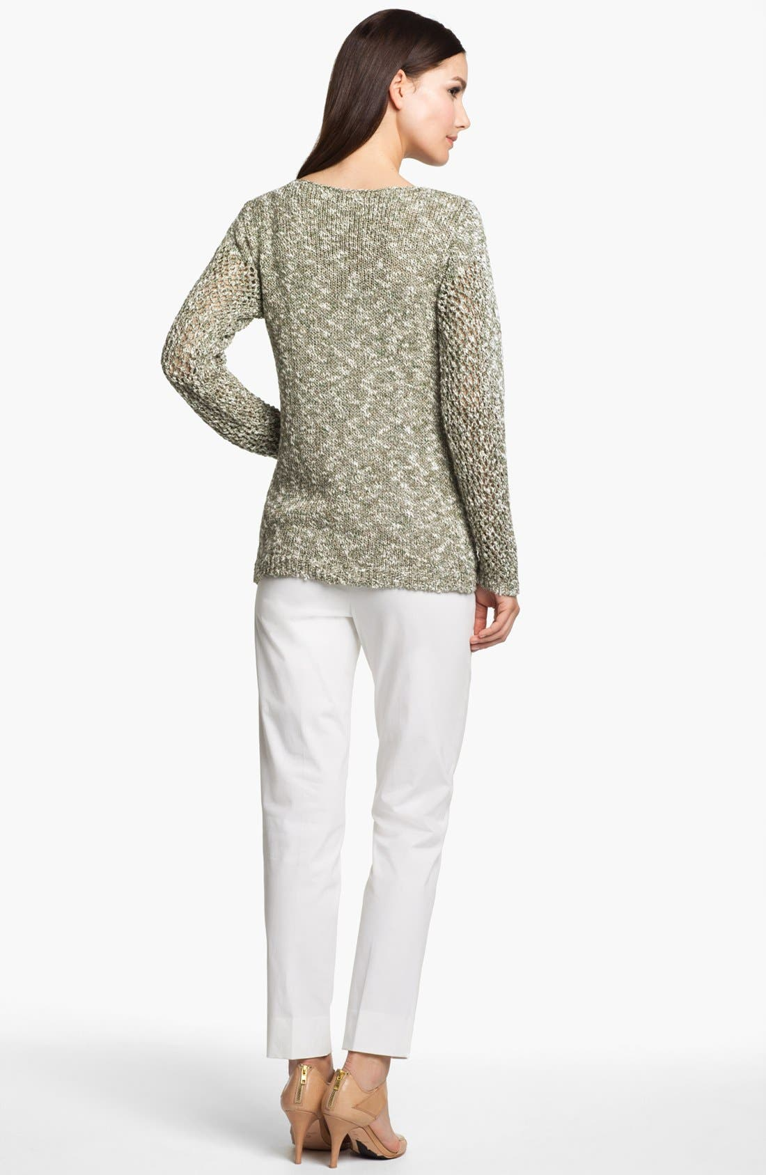 Alternate Image 4  - Lafayette 148 New York 'Chromatic Mélange' Net Stitch Sweater