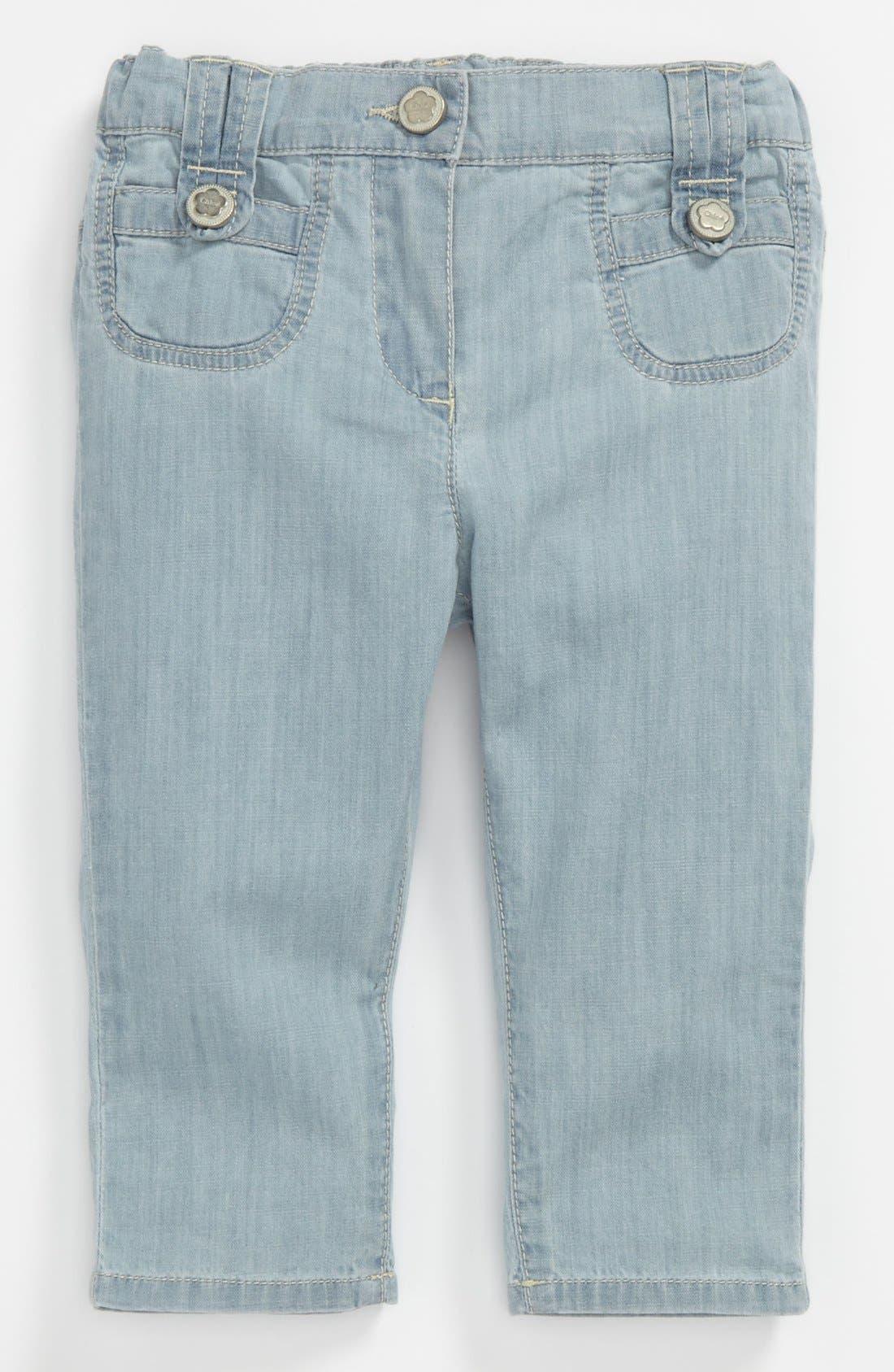 Alternate Image 2  - Chloé Bleached Denim Pants (Baby)