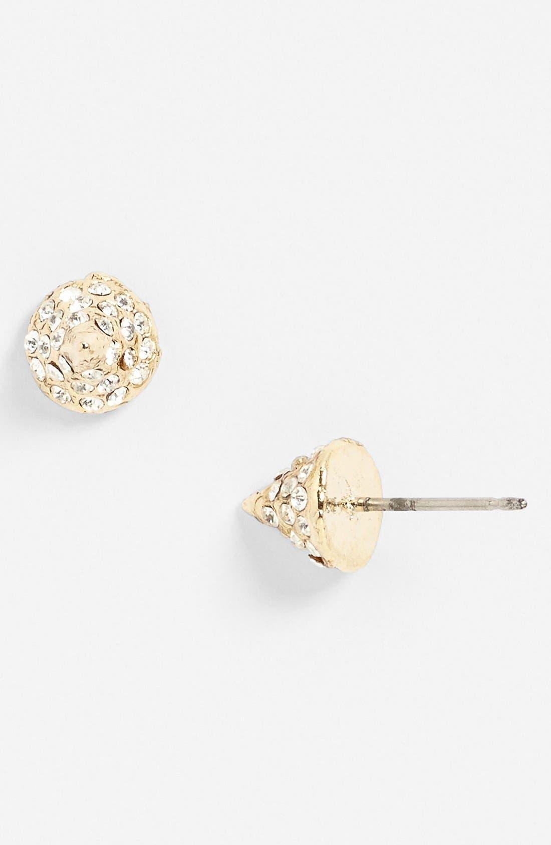 Alternate Image 1 Selected - Rachel Rhinestone Cone Stud Earrings
