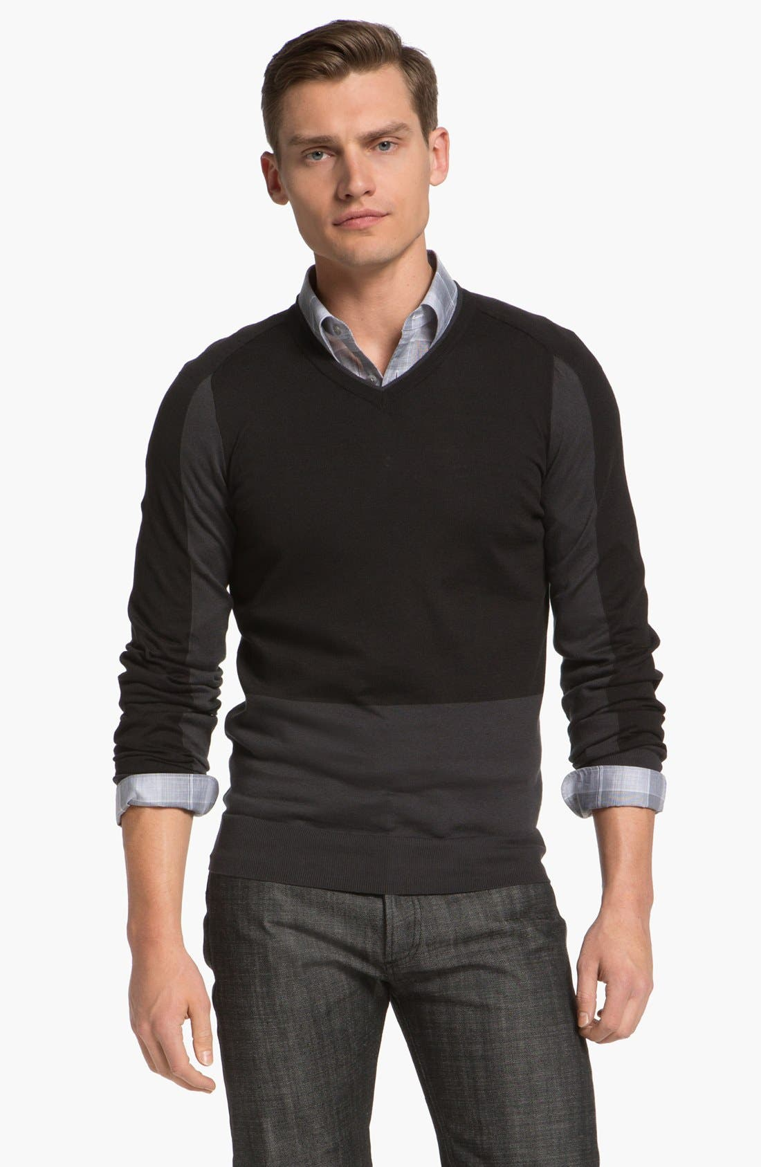 Main Image - Z Zegna Colorblock Sweater