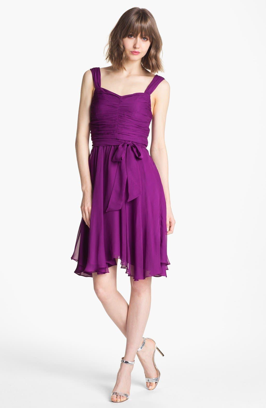 Alternate Image 1 Selected - Ivy & Blu Ruched Chiffon Dress