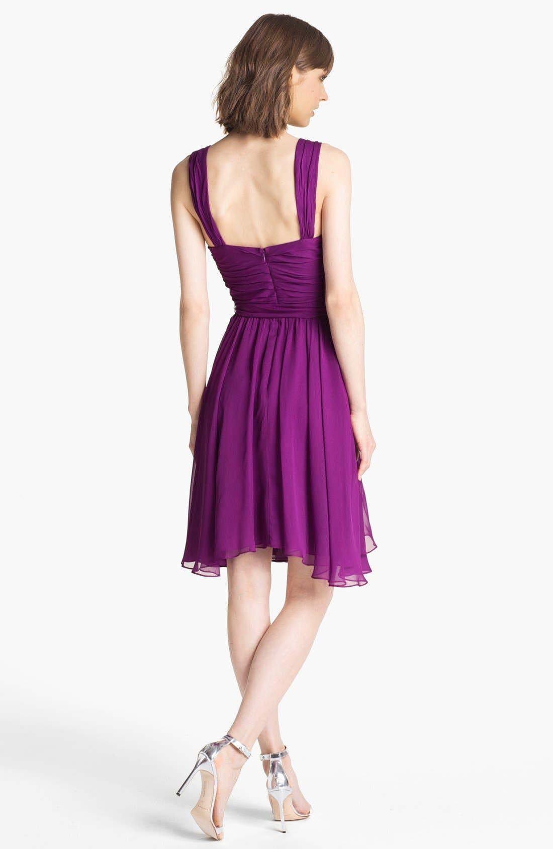Alternate Image 2  - Ivy & Blu Ruched Chiffon Dress