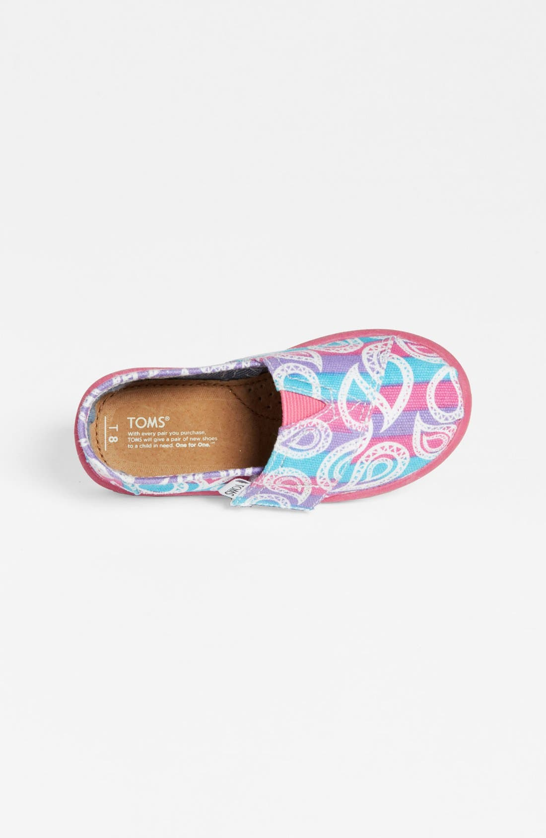 Alternate Image 3  - TOMS 'Classic Tiny - Rainbow Paisley' Slip-On (Baby, Walker & Toddler)