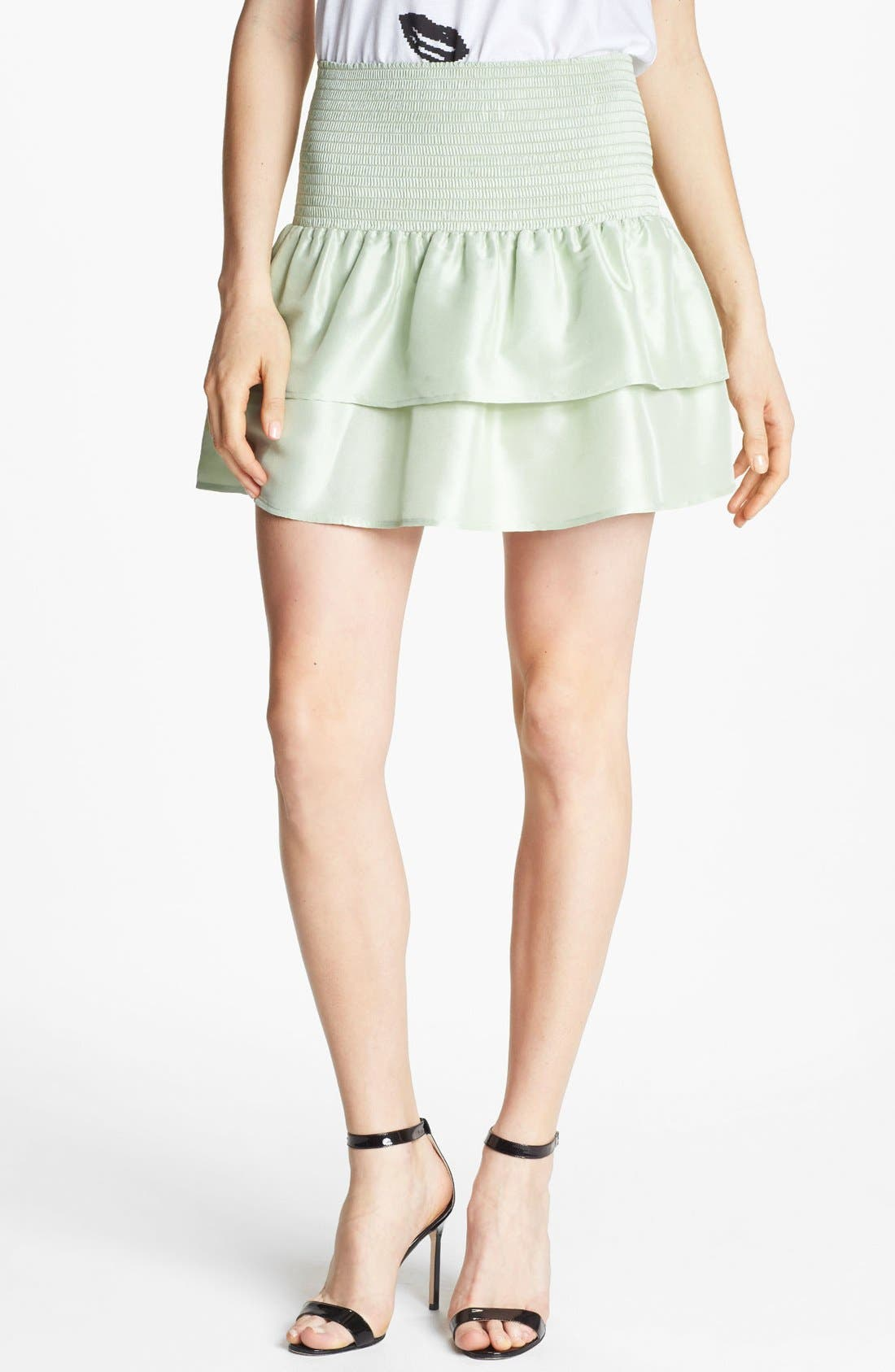 Main Image - Man Repeller X PJK 'Rene' Tiered Silk Skirt