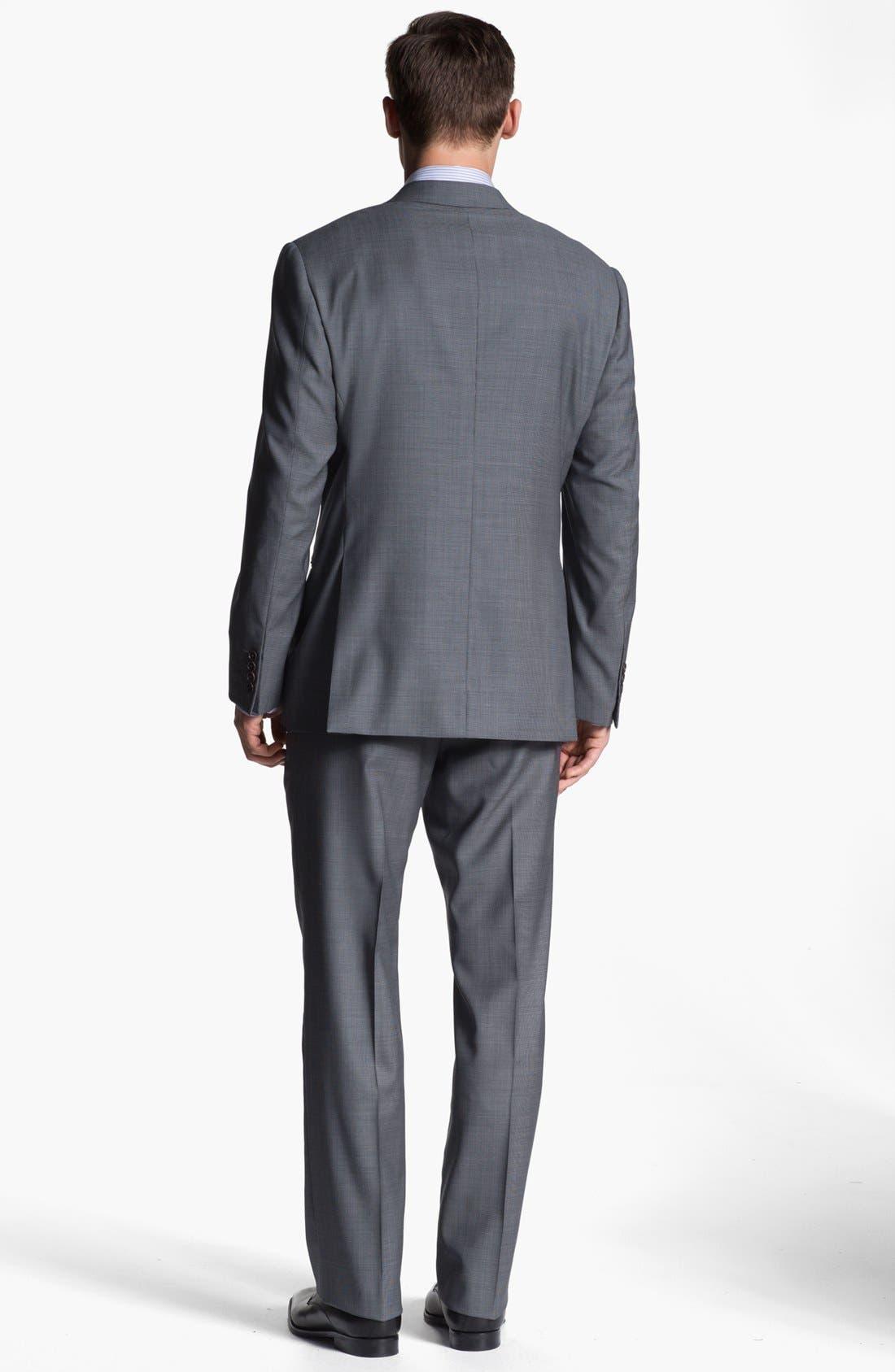 Alternate Image 3  - Armani Collezioni 'Giorgio' Tic Weave Wool Suit