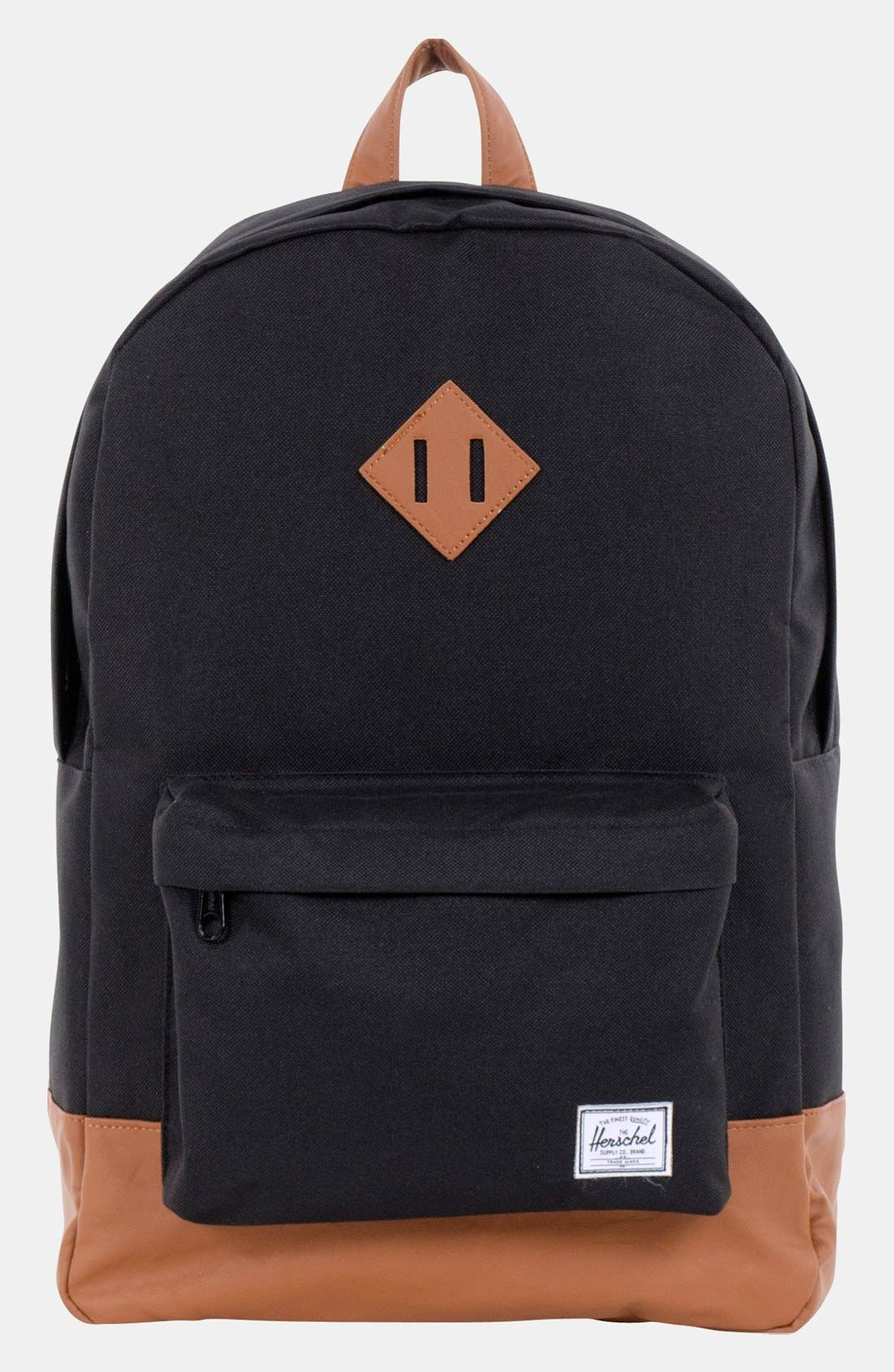 Alternate Image 1 Selected - Herschel Supply Co. 'Heritage Plus' Leather Trim Backpack