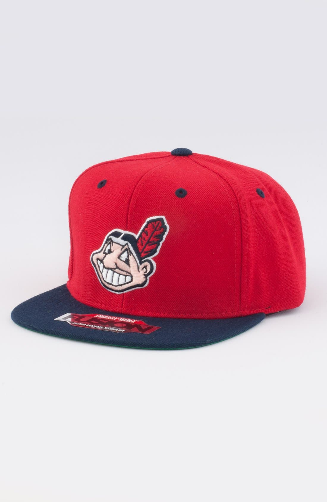 Alternate Image 1 Selected - American Needle 'Cleveland Indians - Back 2 Front' Snapback Baseball Cap