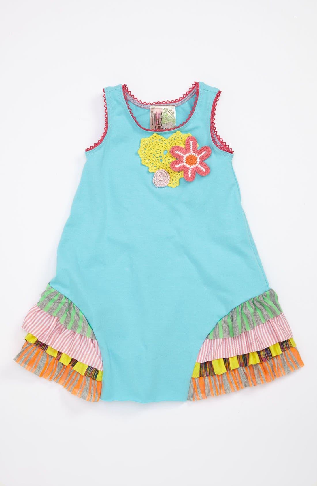 Alternate Image 1 Selected - Twirls & Twigs 'Heart & Flower' Appliqué Dress (Baby)