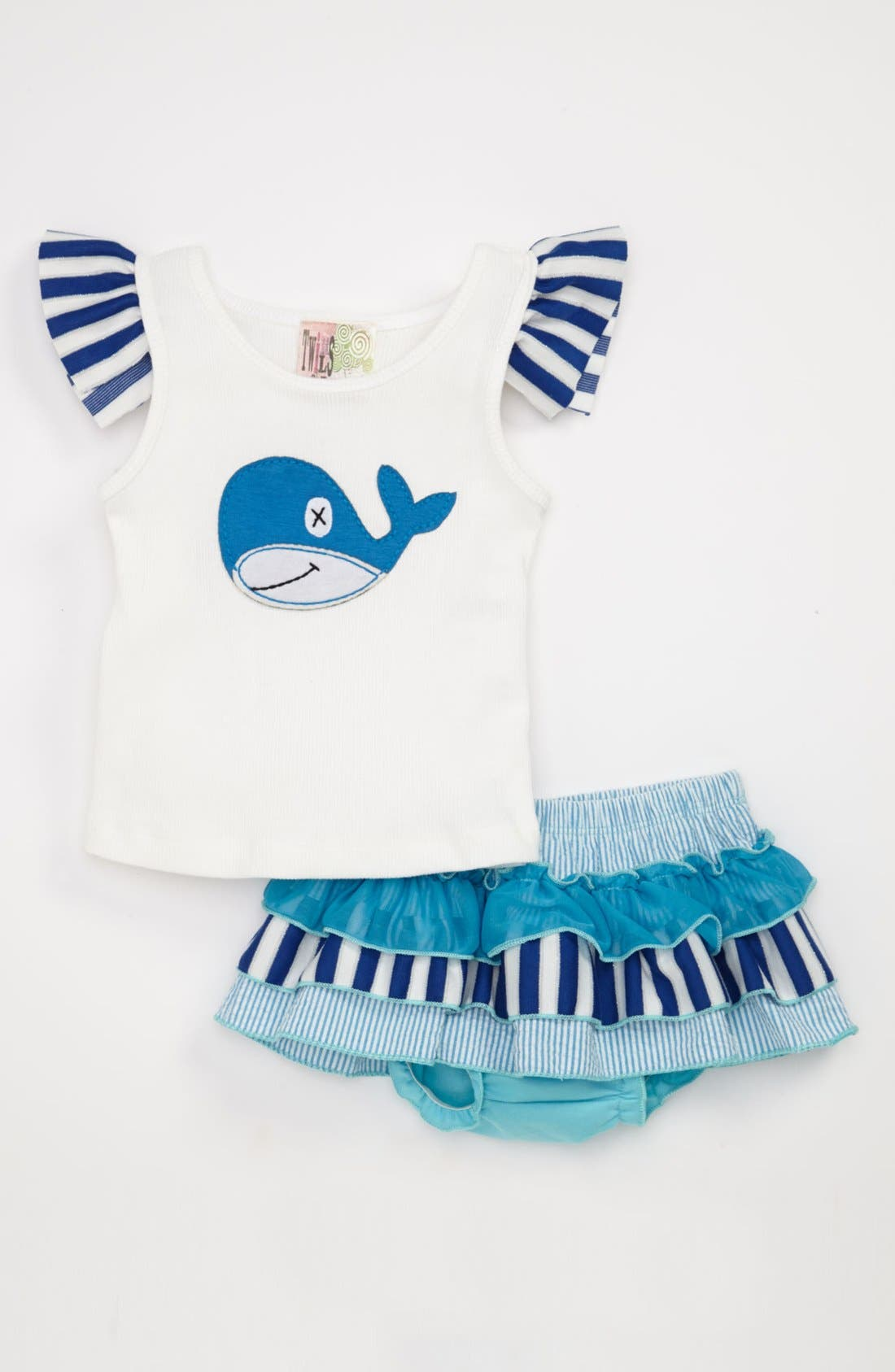 Main Image - Twirls & Twigs Tank & Bloomers (Baby)