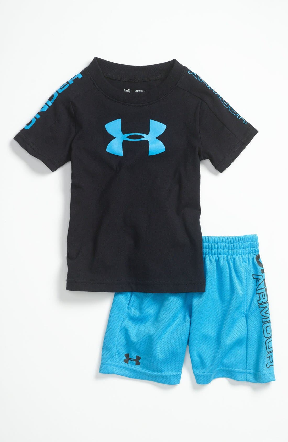 Alternate Image 1 Selected - Under Armour 'Integrity 2.0' T-Shirt & Shorts (Baby)