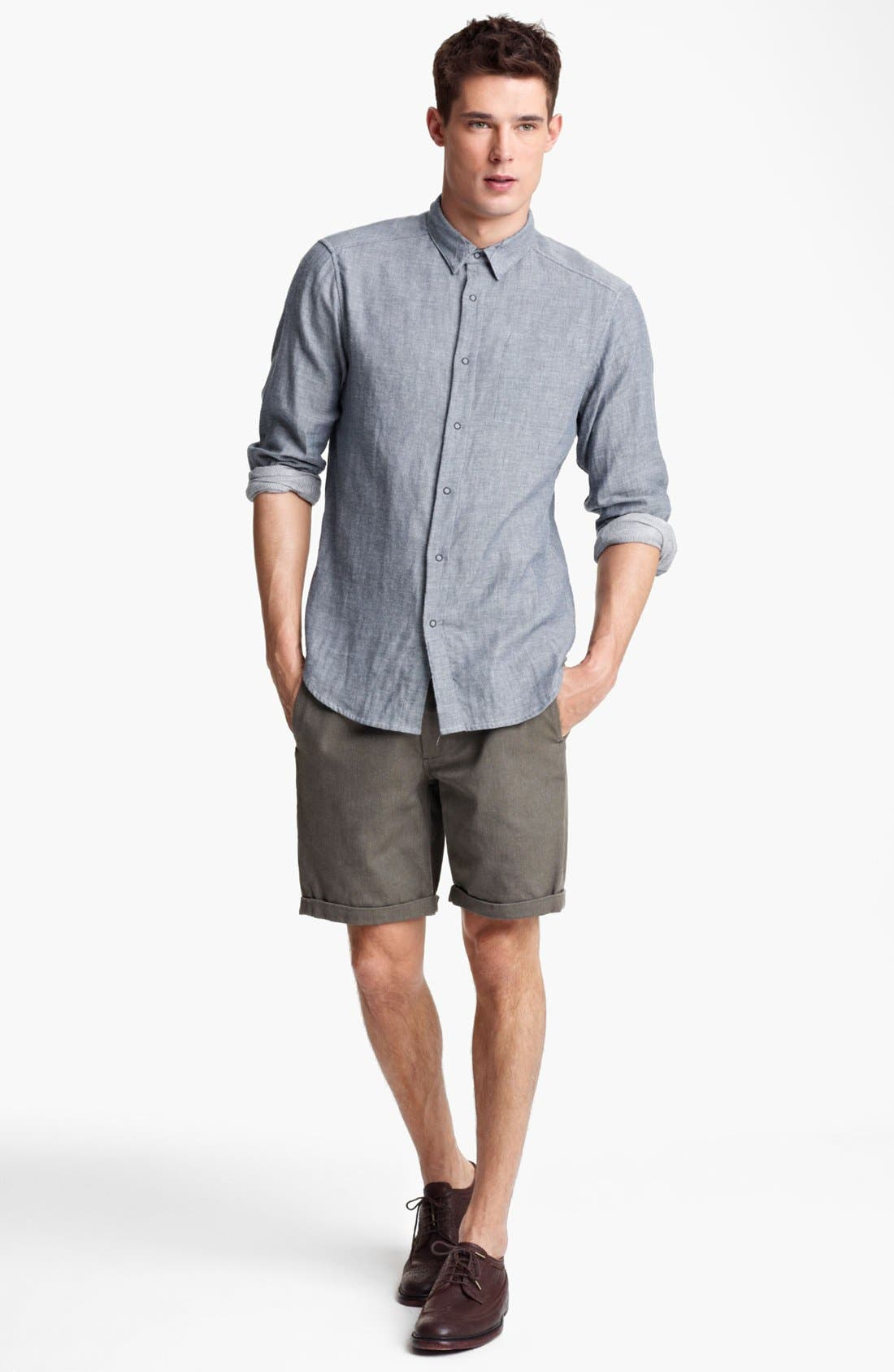 Alternate Image 3  - Rogan 'Insidoud' Reversible Chambray Shirt