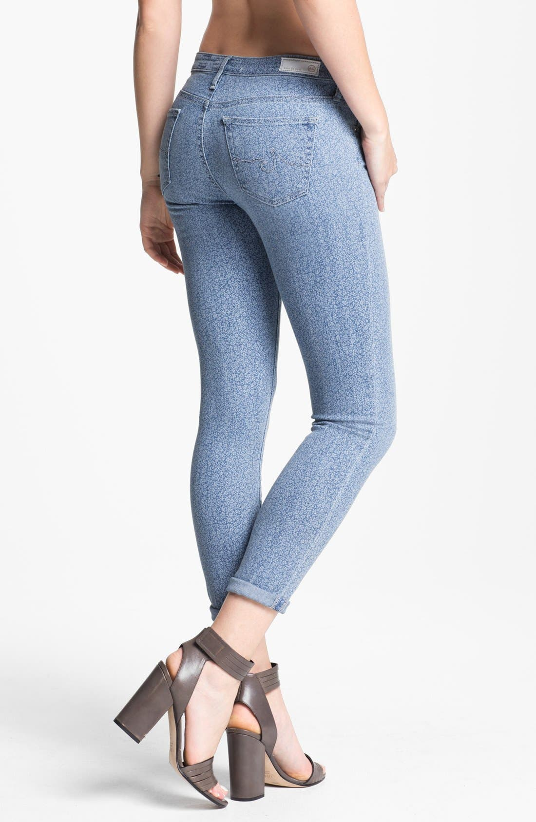 Alternate Image 2  - AG Jeans 'Liberty of London' Print Denim Ankle Legging (Denim Isla)