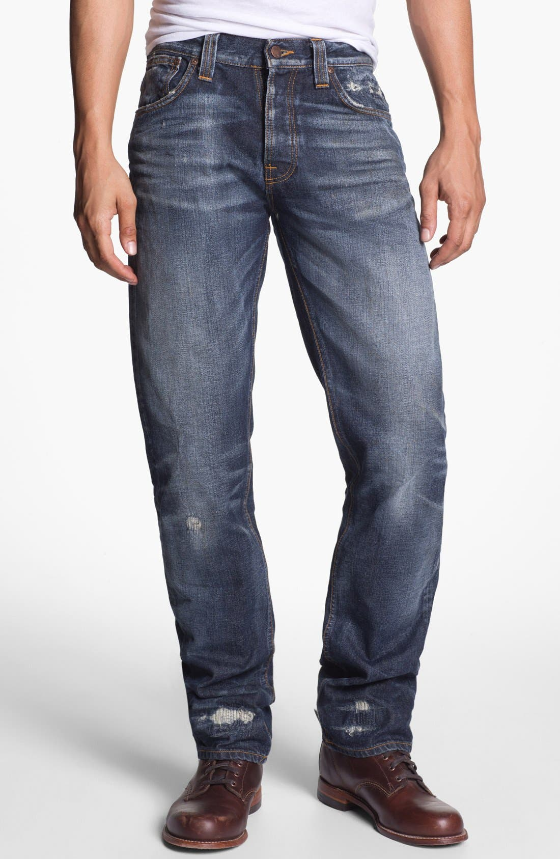 Alternate Image 2  - Nudie 'Alf' Slim Straight Leg Jeans (Organic Larry Replica)