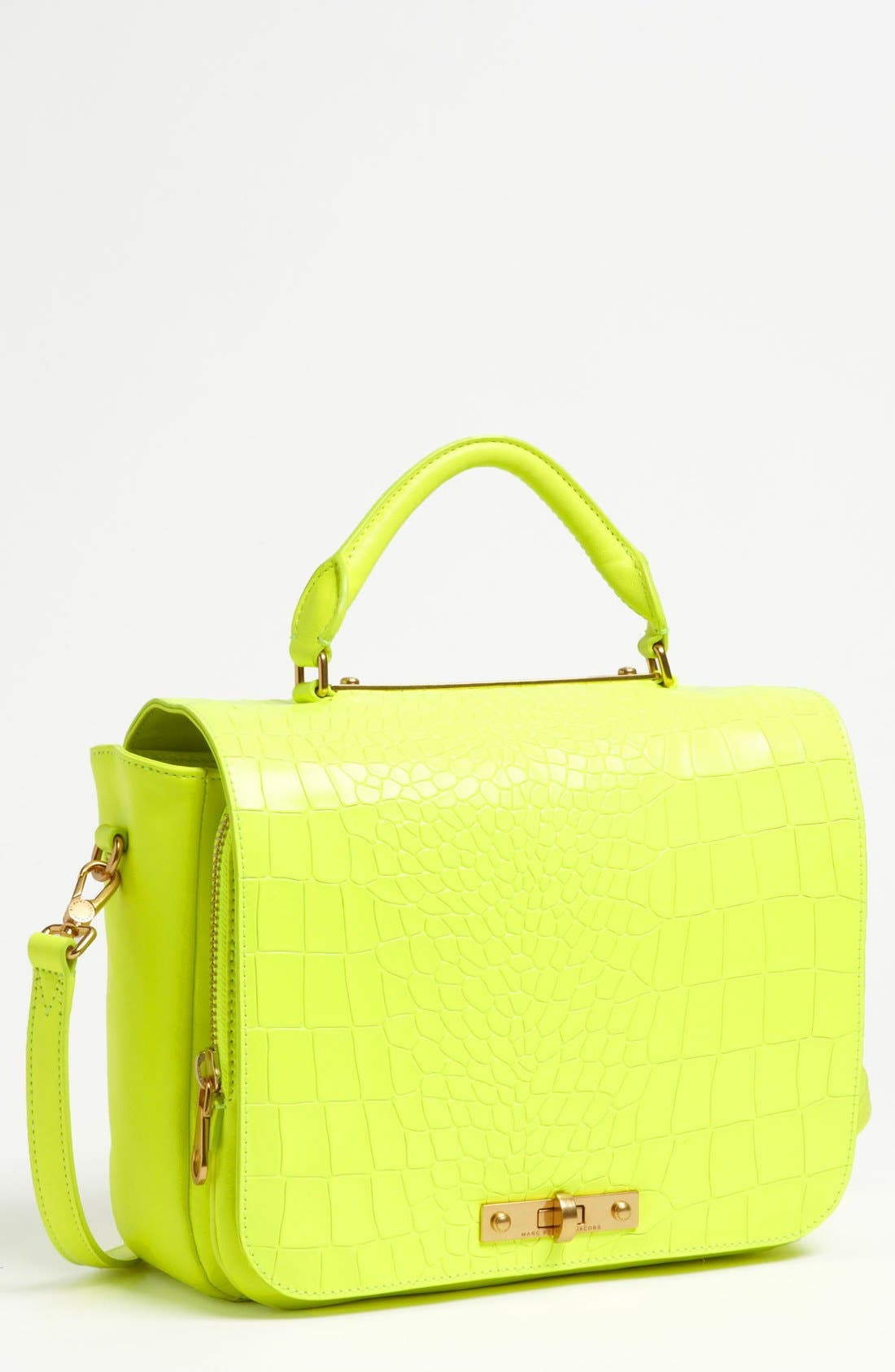 Alternate Image 1 Selected - MARC BY MARC JACOBS 'Goodbye Columbus' Croc Embossed Leather Satchel