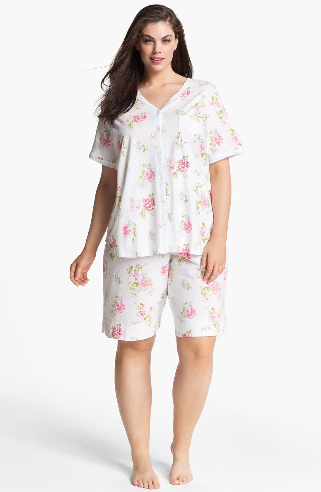 Alternate Image 1 Selected - Carole Hochman Designs Bermuda Pajamas (Plus Size)