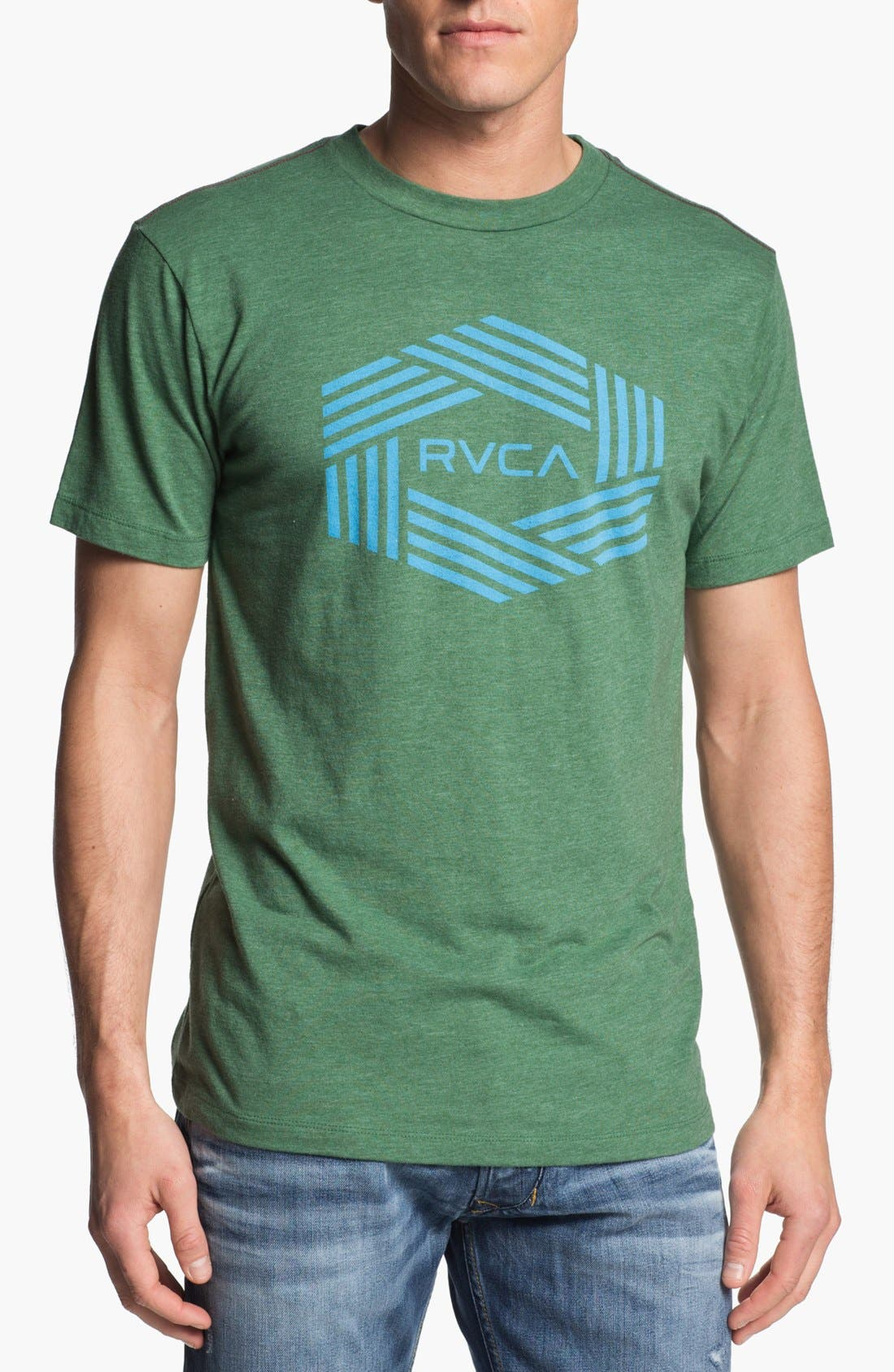 Alternate Image 1 Selected - RVCA 'Bar Hex' Graphic T-Shirt