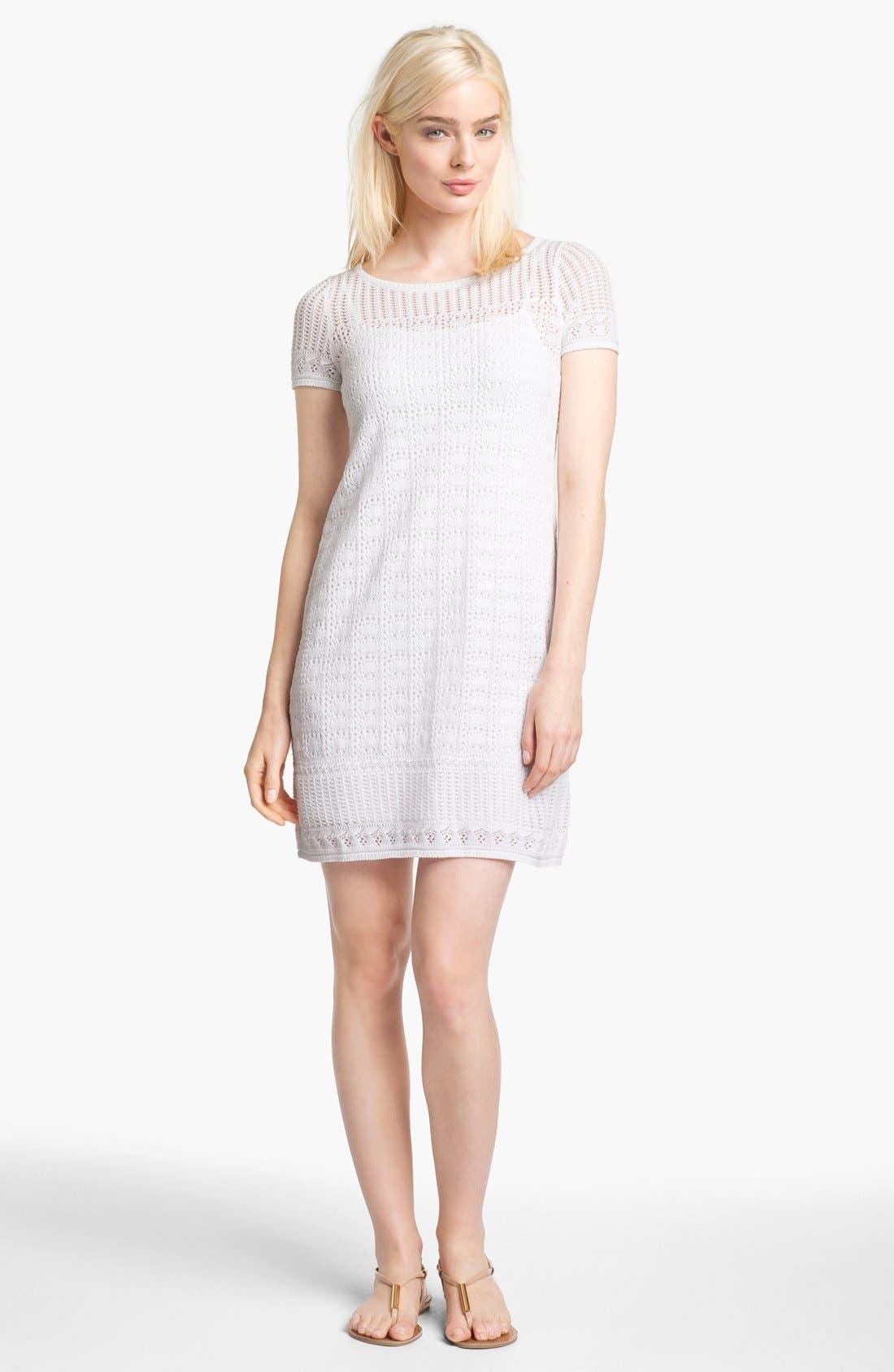 Main Image - Lilly Pulitzer® 'Paula' Crochet Sweater Shift Dress