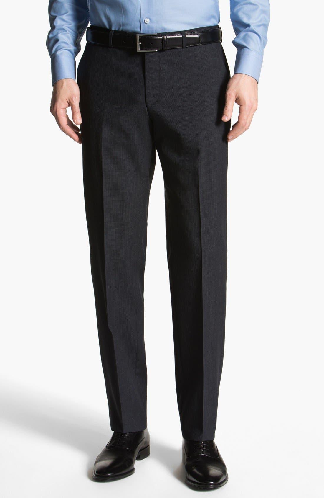 Alternate Image 1 Selected - BOSS HUGO BOSS 'Sharp' Flat Front Trousers