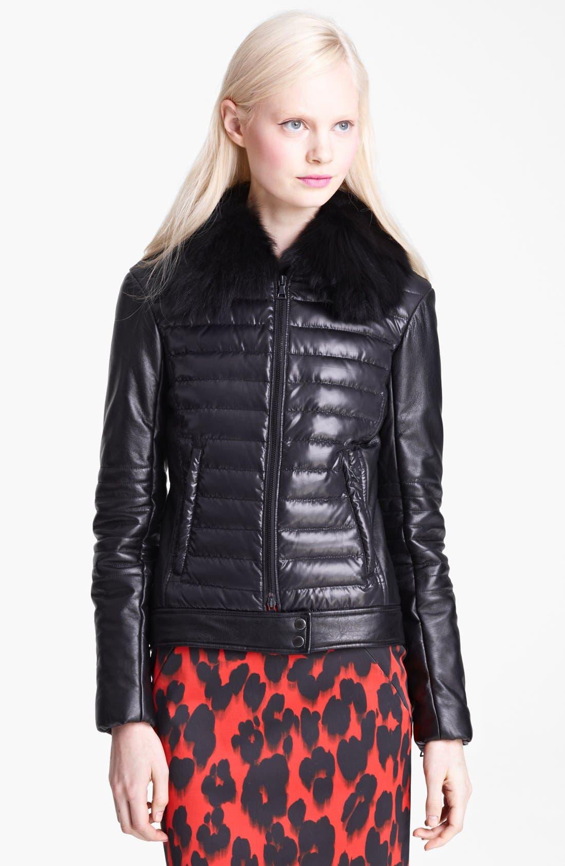 Main Image - Moschino Cheap & Chic Genuine Fox Collar Down Jacket