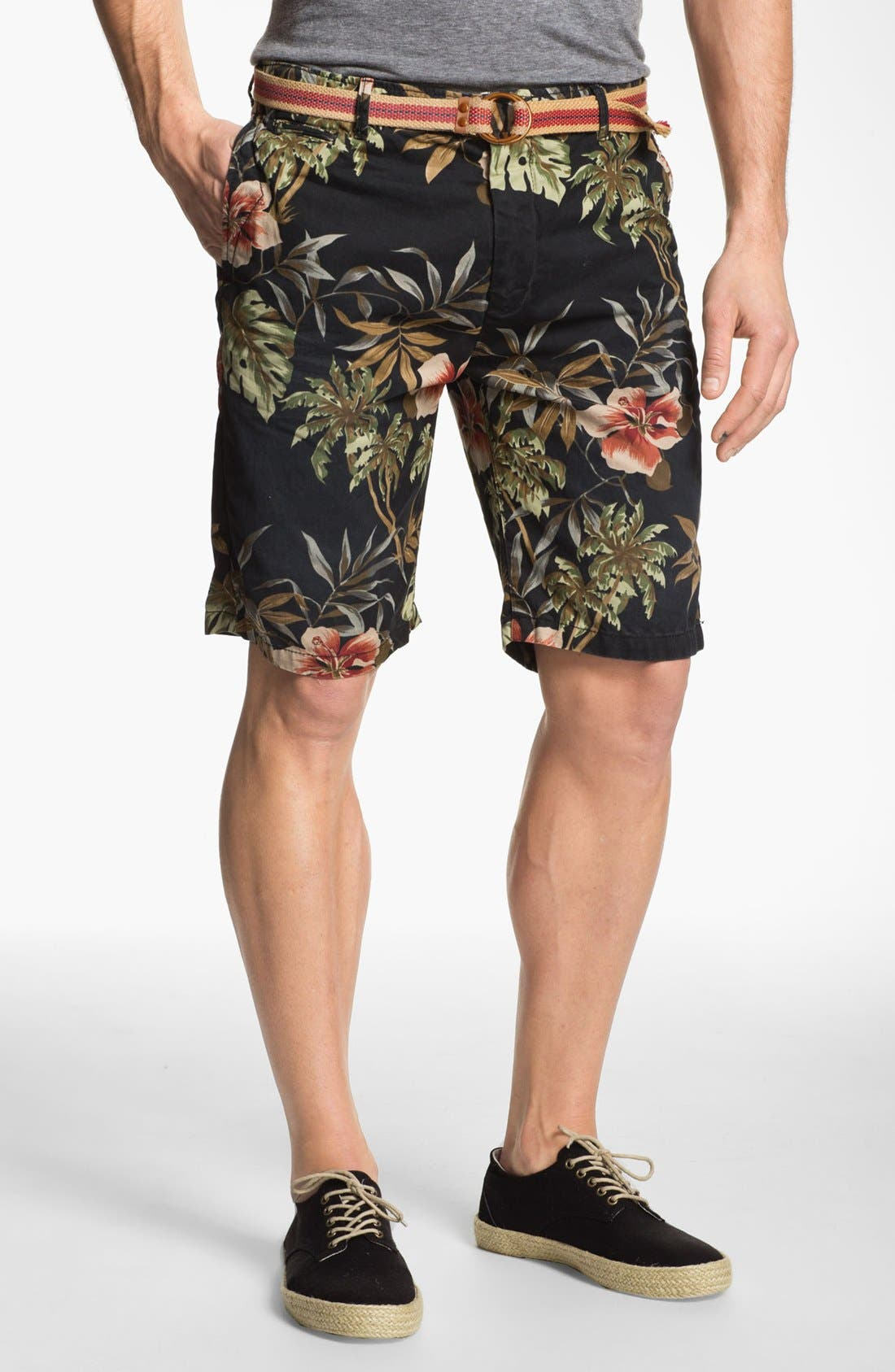Main Image - Scotch & Soda Floral Print Chino Shorts