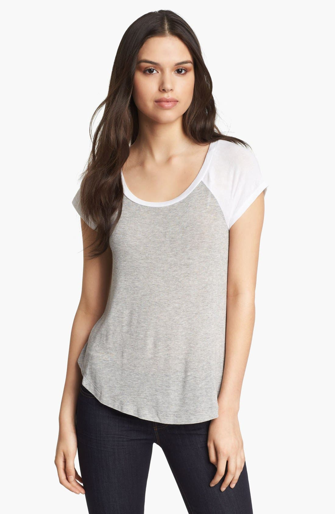 Alternate Image 1 Selected - Splendid Relaxed Baseball Tee