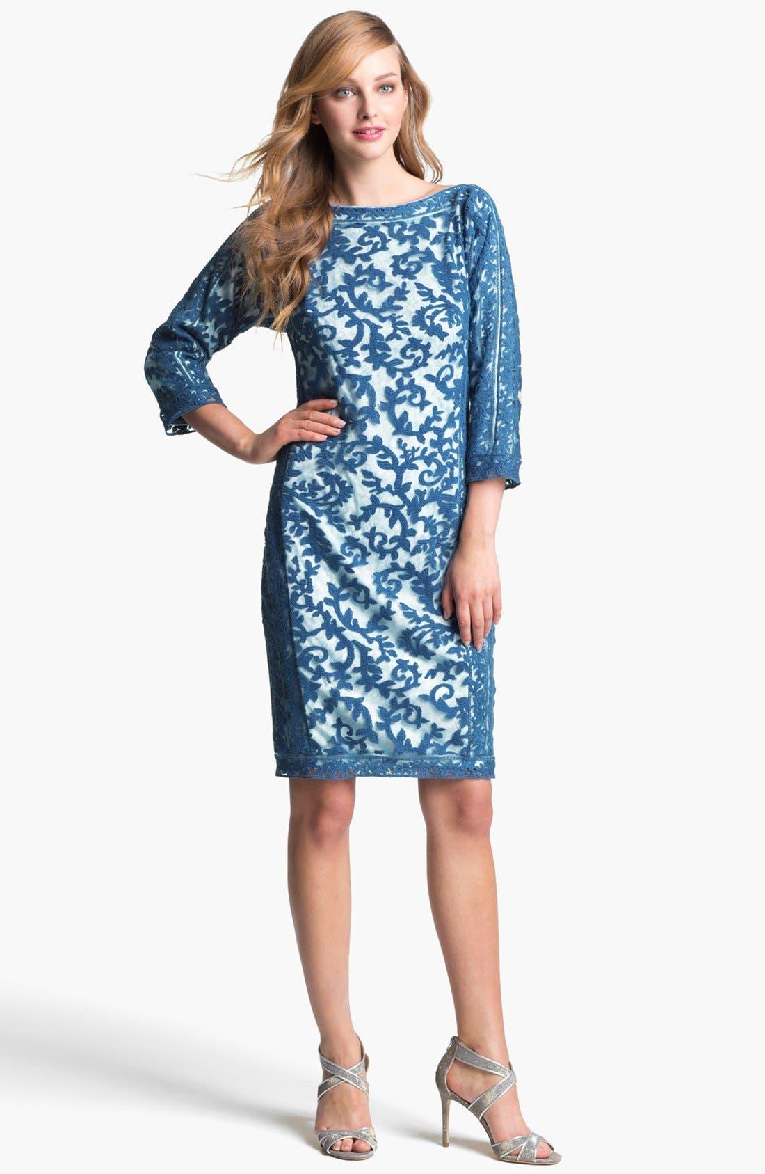 Alternate Image 1 Selected - Tadashi Shoji Embroidered Lace Dress