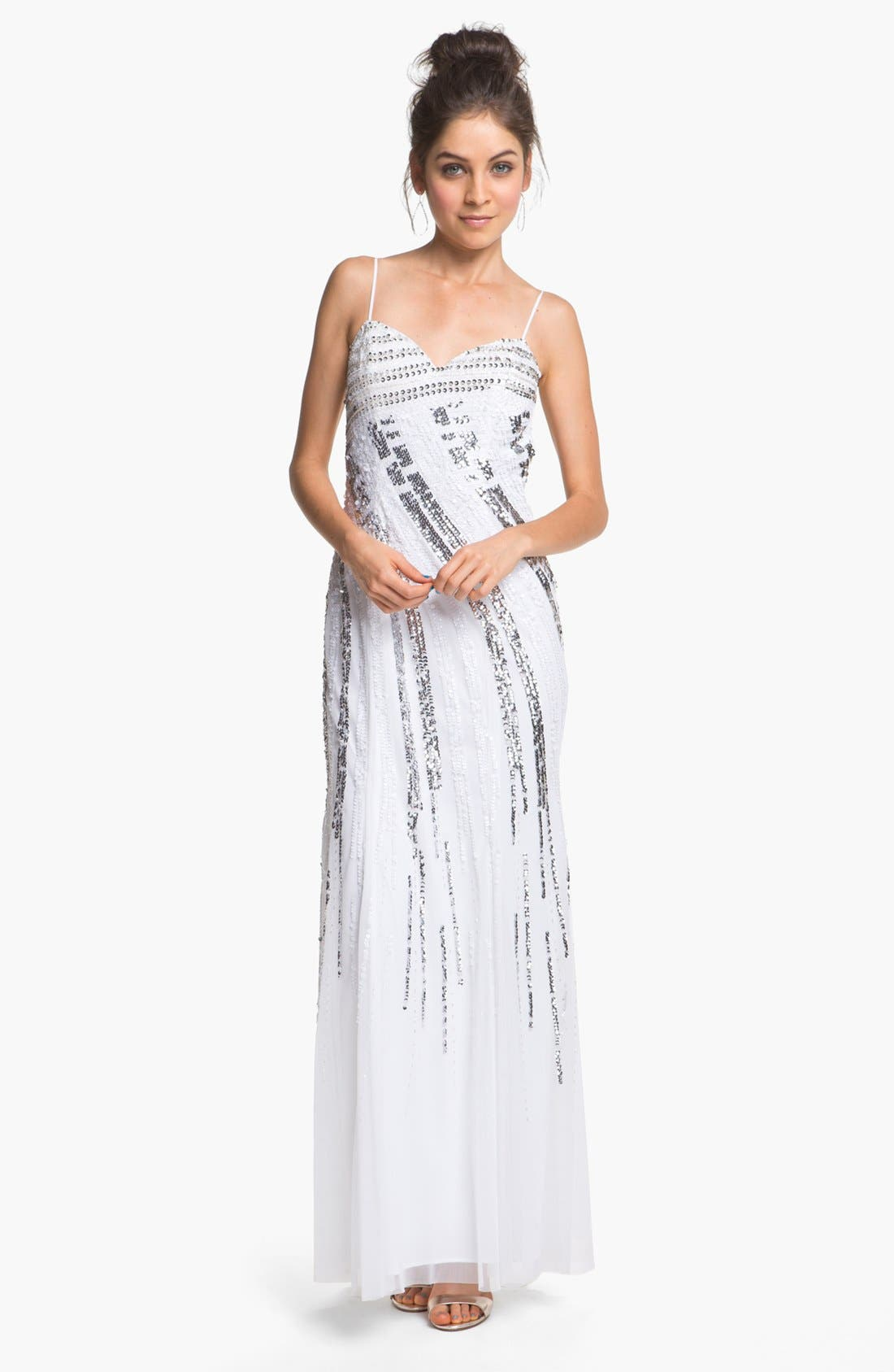 Alternate Image 1  - Sean Collection Embellished Chiffon Gown (Online Only)