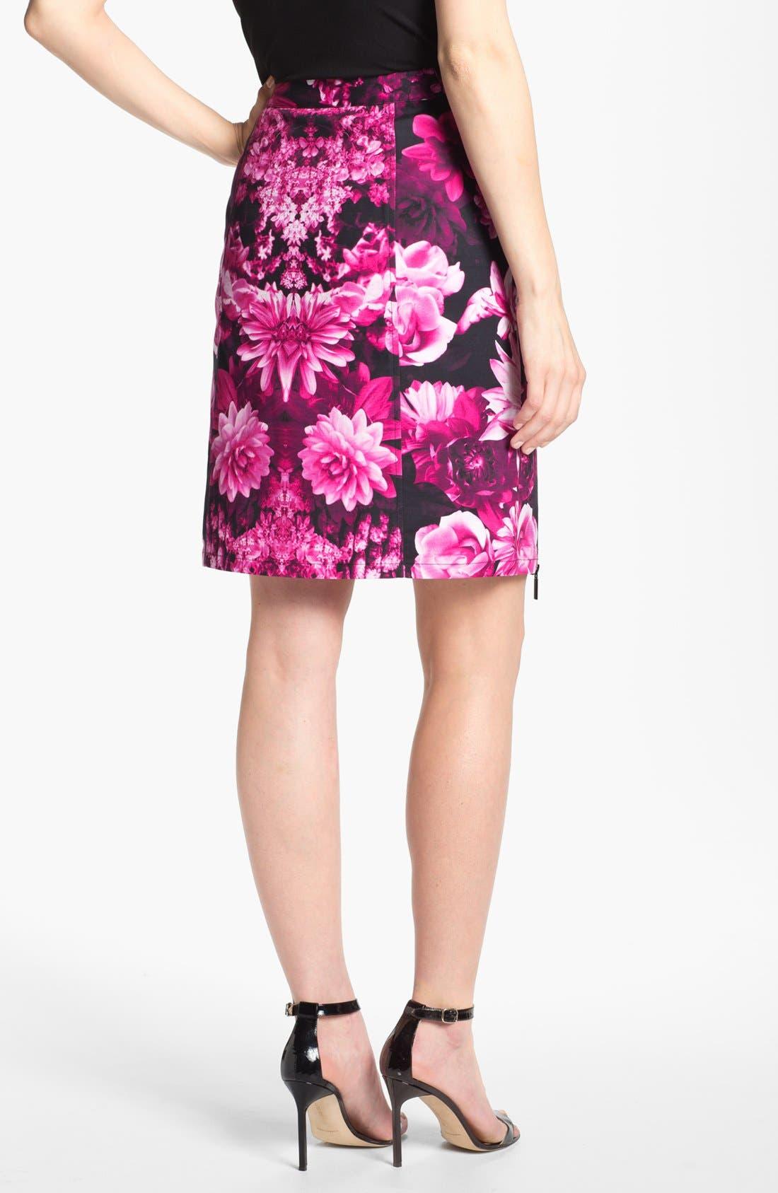Alternate Image 2  - MICHAEL Michael Kors Snap Waist Garden Print Skirt
