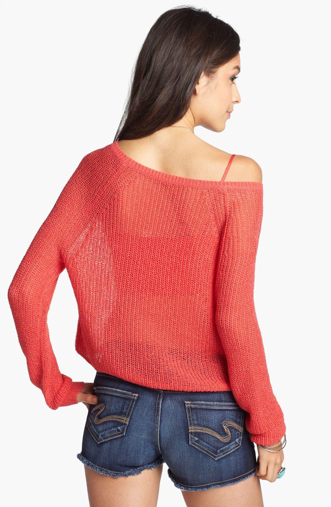 Alternate Image 2  - BP. Open Weave Pullover (Juniors)