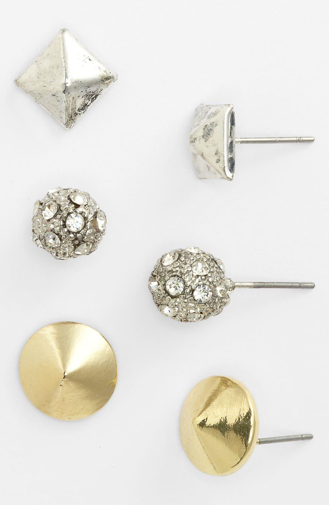 Main Image - Carole Stud Earrings (Set of 3)