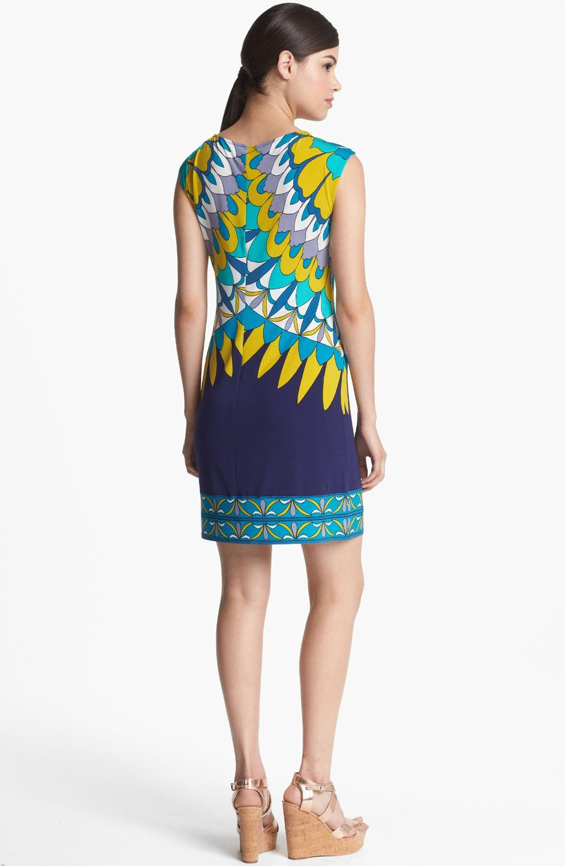 Alternate Image 2  - Donna Morgan Print Jersey Sheath Dress