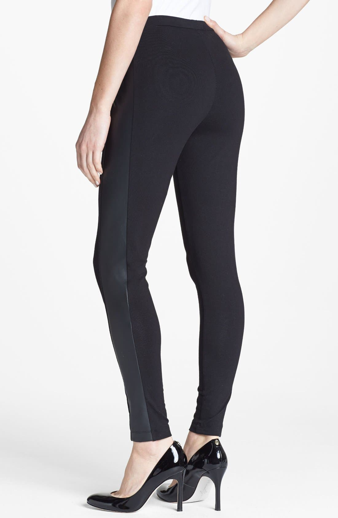 Alternate Image 2  - Two by Vince Camuto Faux Leather Trim Leggings