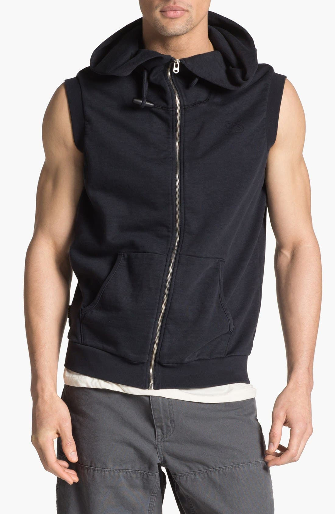 Alternate Image 1 Selected - G-Star Vest Hoodie