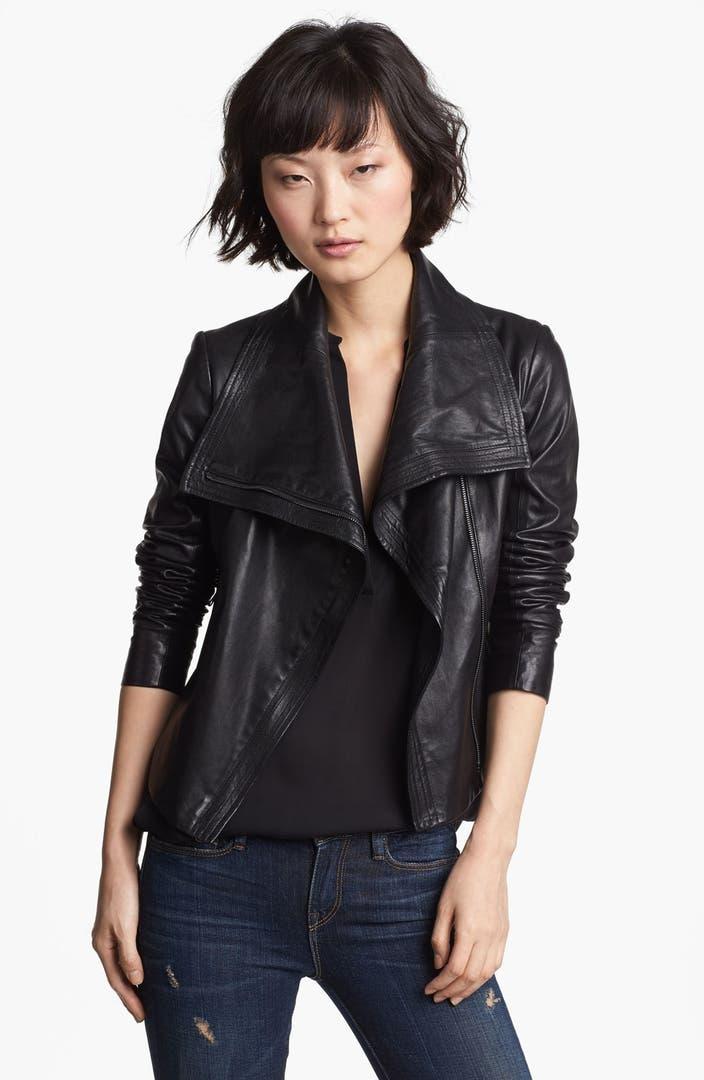 Vince Crop Leather Moto Jacket   Nordstrom