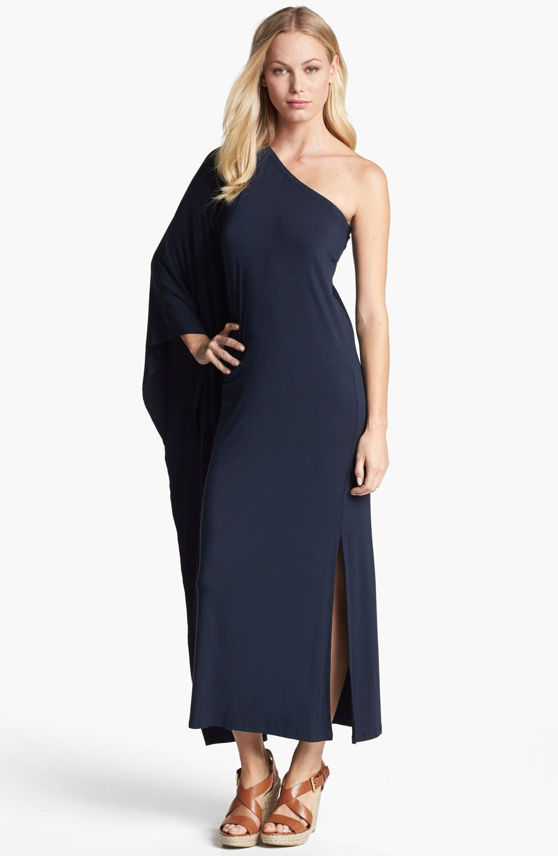 Main Image - MICHAEL Michael Kors One Shoulder Poncho Maxi Dress