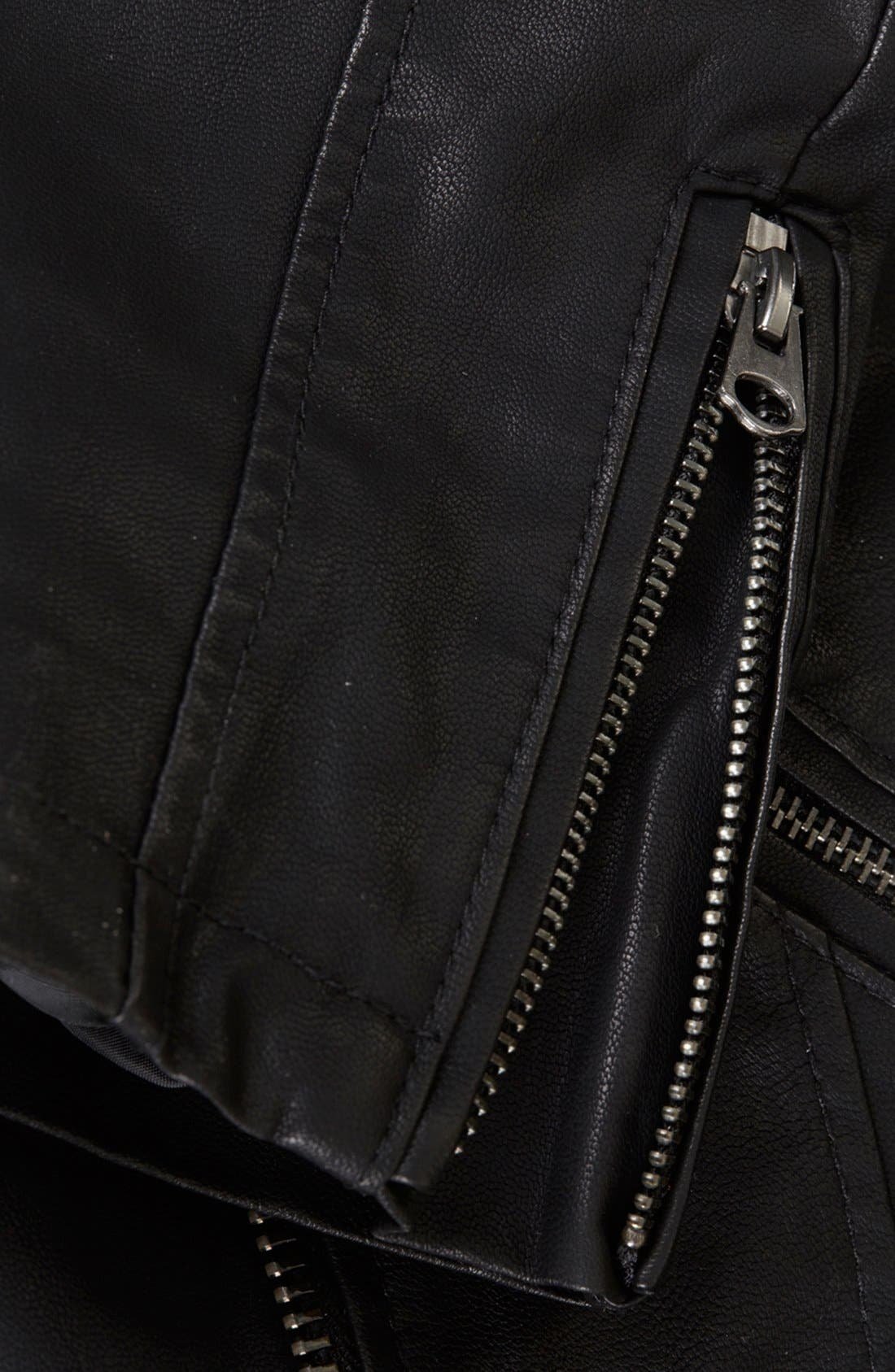 Alternate Image 4  - Topshop 'Mirabelle' Faux Leather Biker Jacket