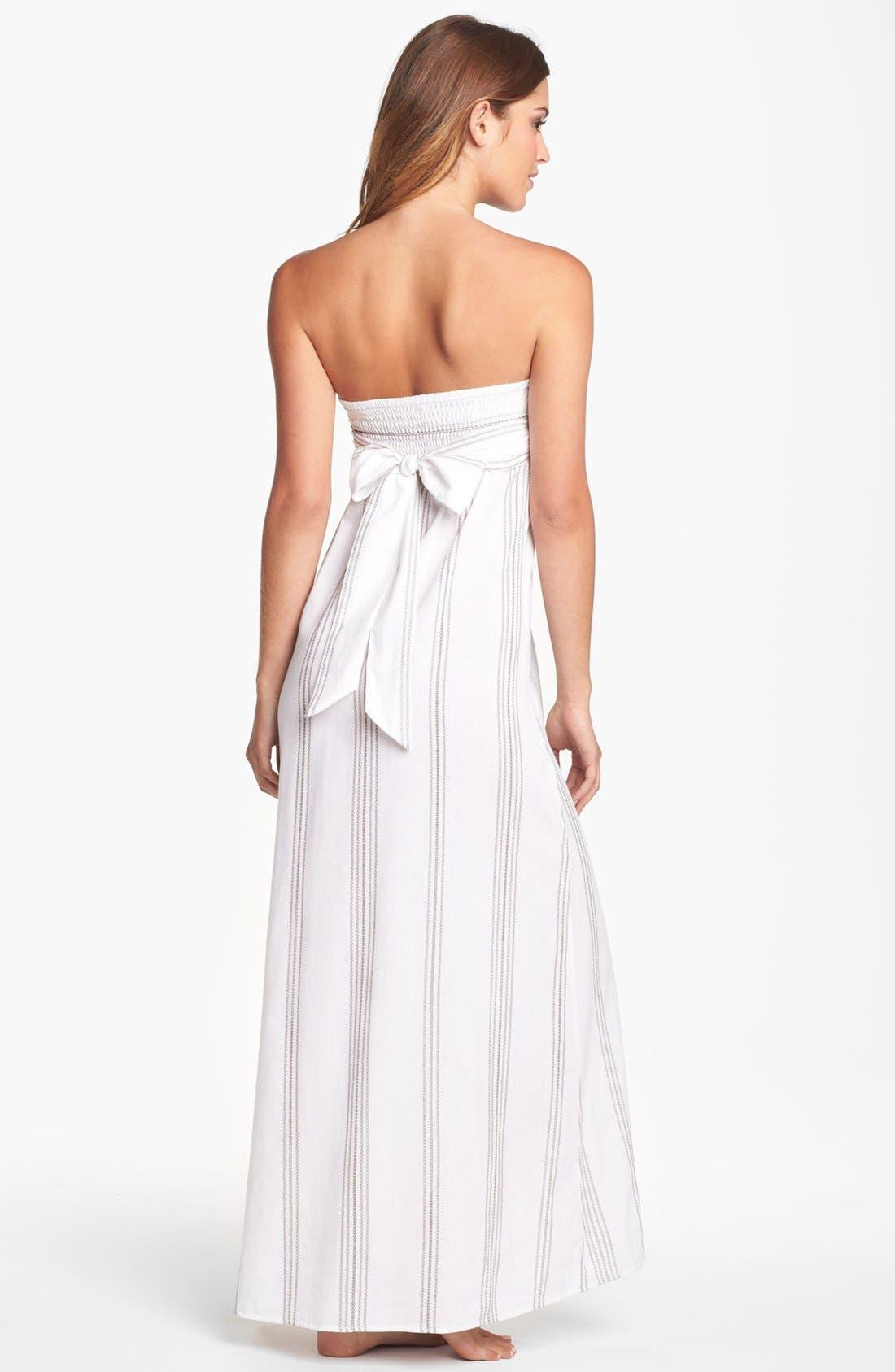 Alternate Image 2  - Tommy Bahama 'Marina Stripe' Bandeau Cover-Up Dress