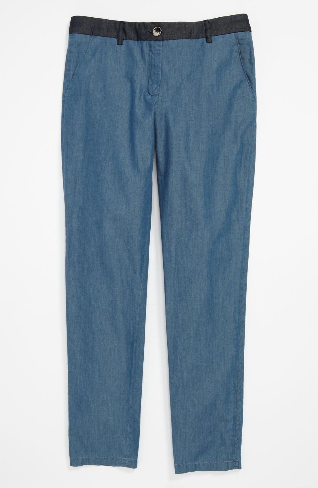 Alternate Image 2  - LITTLE MARC JACOBS Chambray Pants (Big Girls)