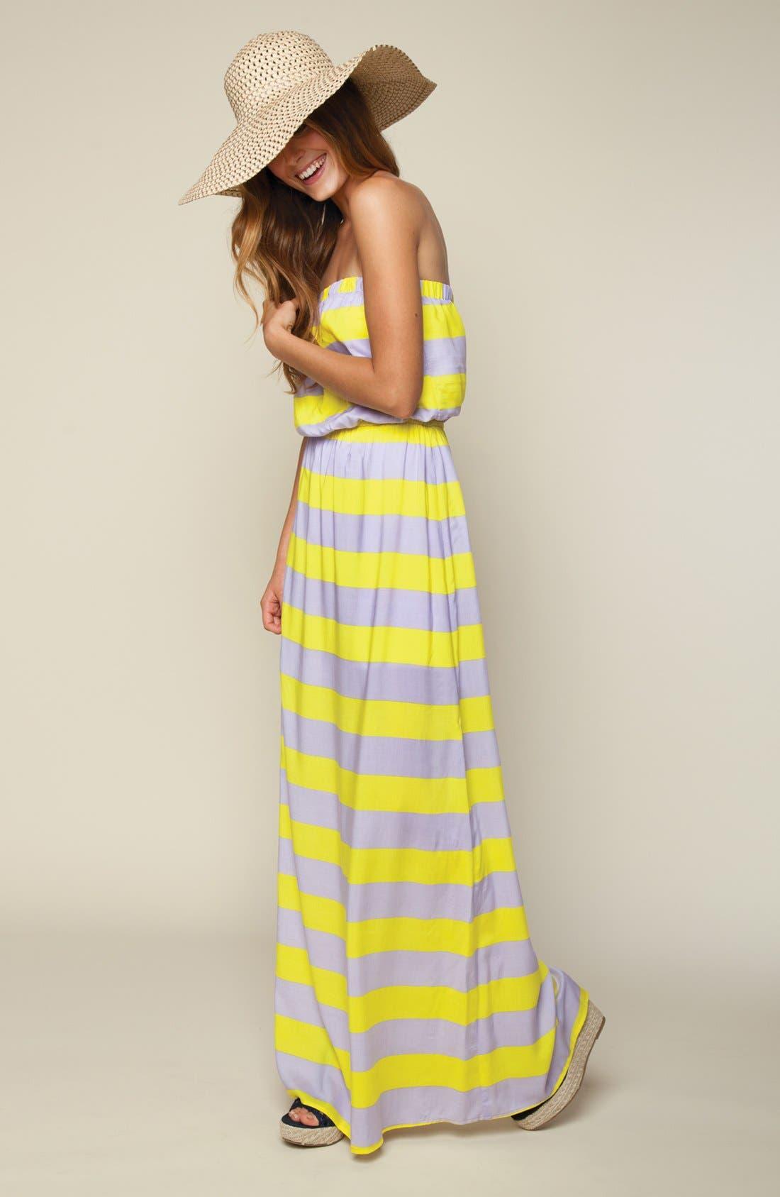 Alternate Image 4  - Splendid 'Magnolia' Stripe Strapless Maxi Dress