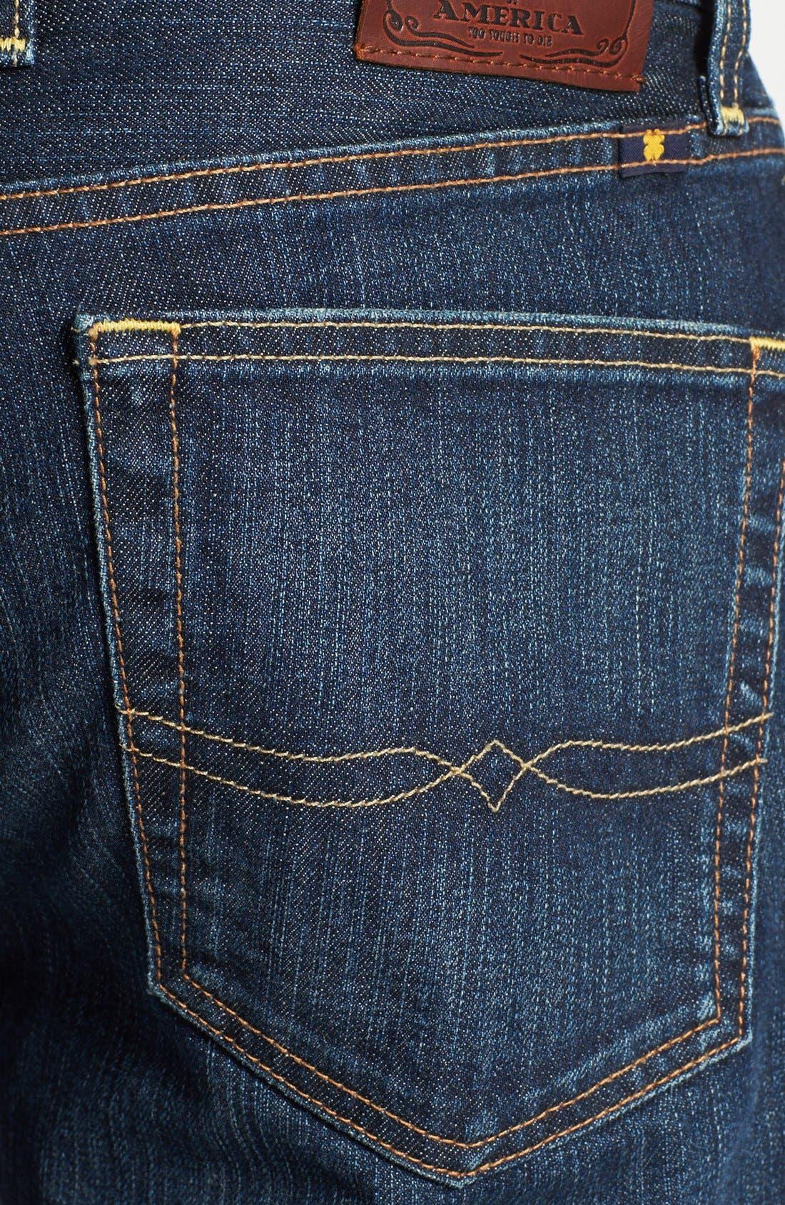 Alternate Image 4  - Lucky Brand '329 Classic' Straight Leg Jeans (Murrell)