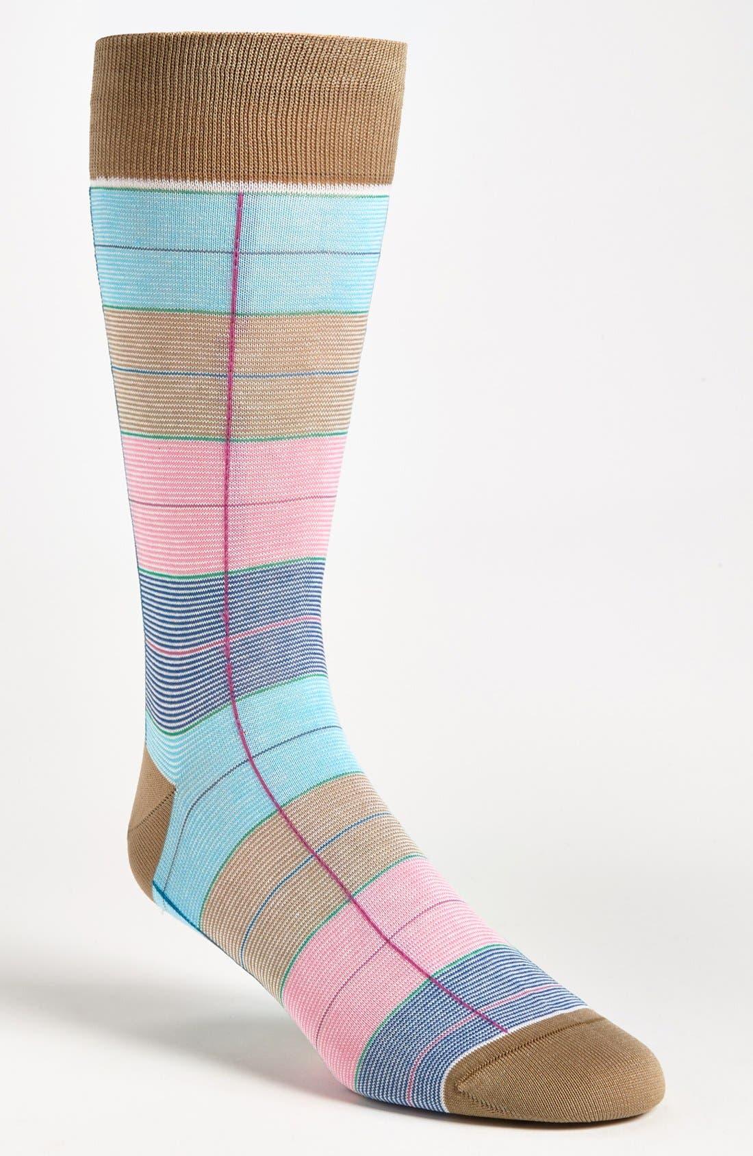 Alternate Image 1 Selected - Bugatchi Uomo Check Socks