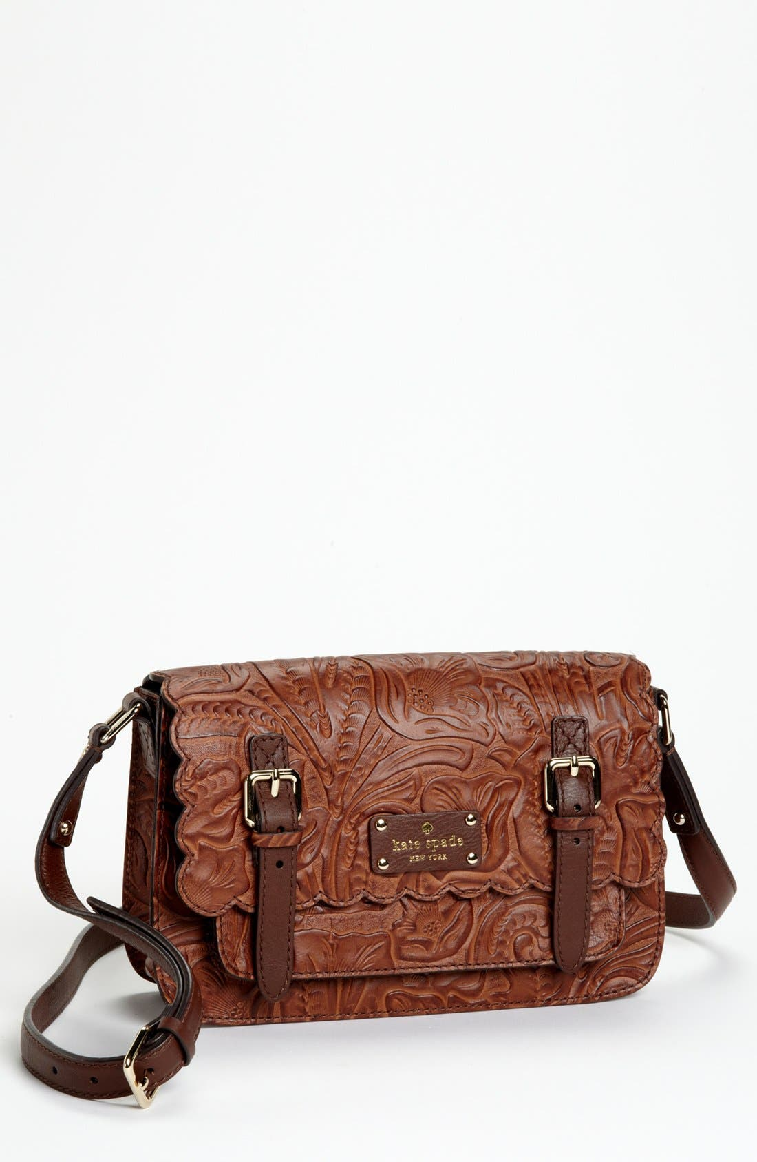 Alternate Image 1 Selected - kate spade new york 'santa rosalia - scout' leather crossbody bag