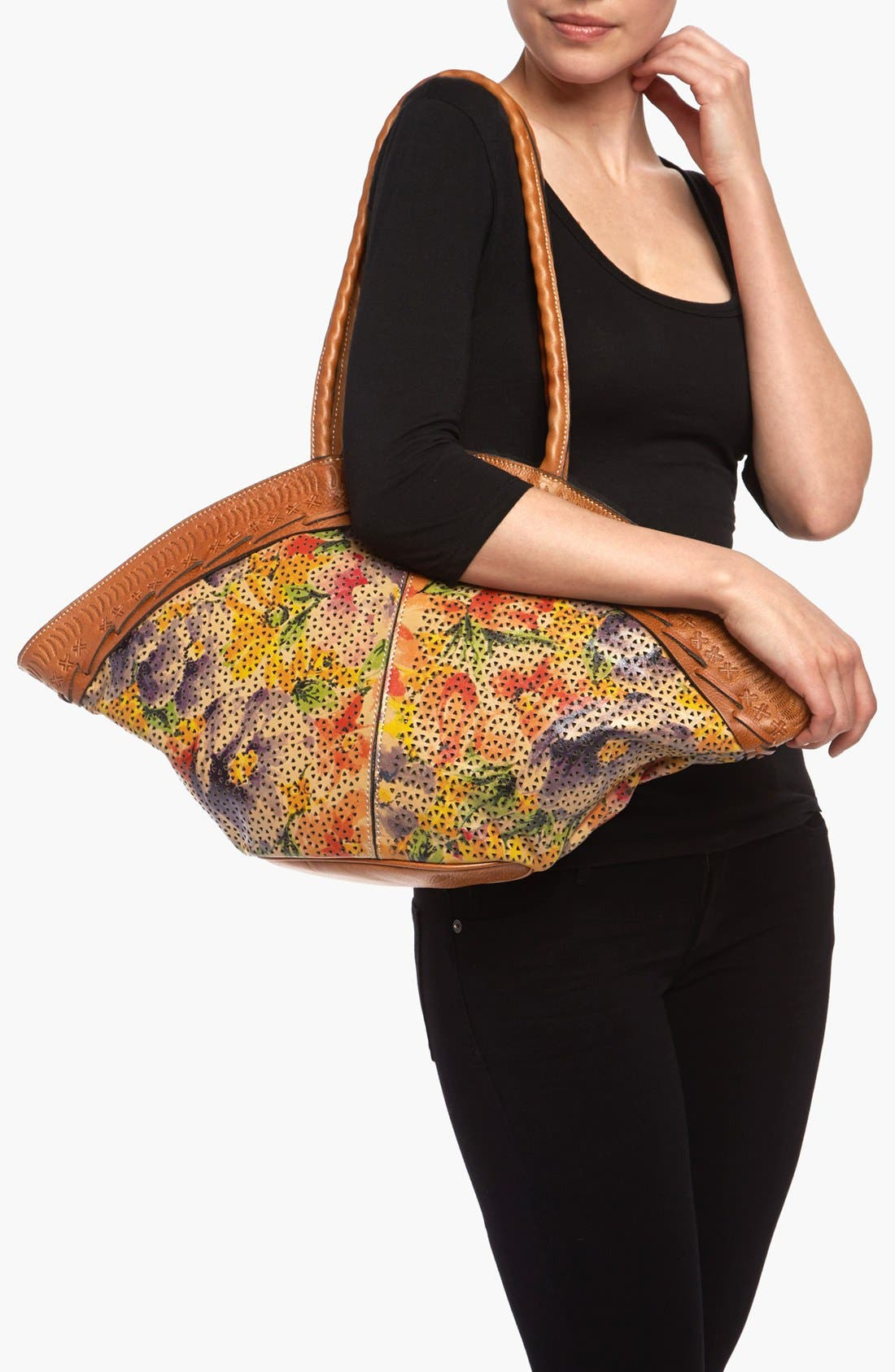 Alternate Image 2  - Patricia Nash 'Trope Dome' Glazed Tote, Medium