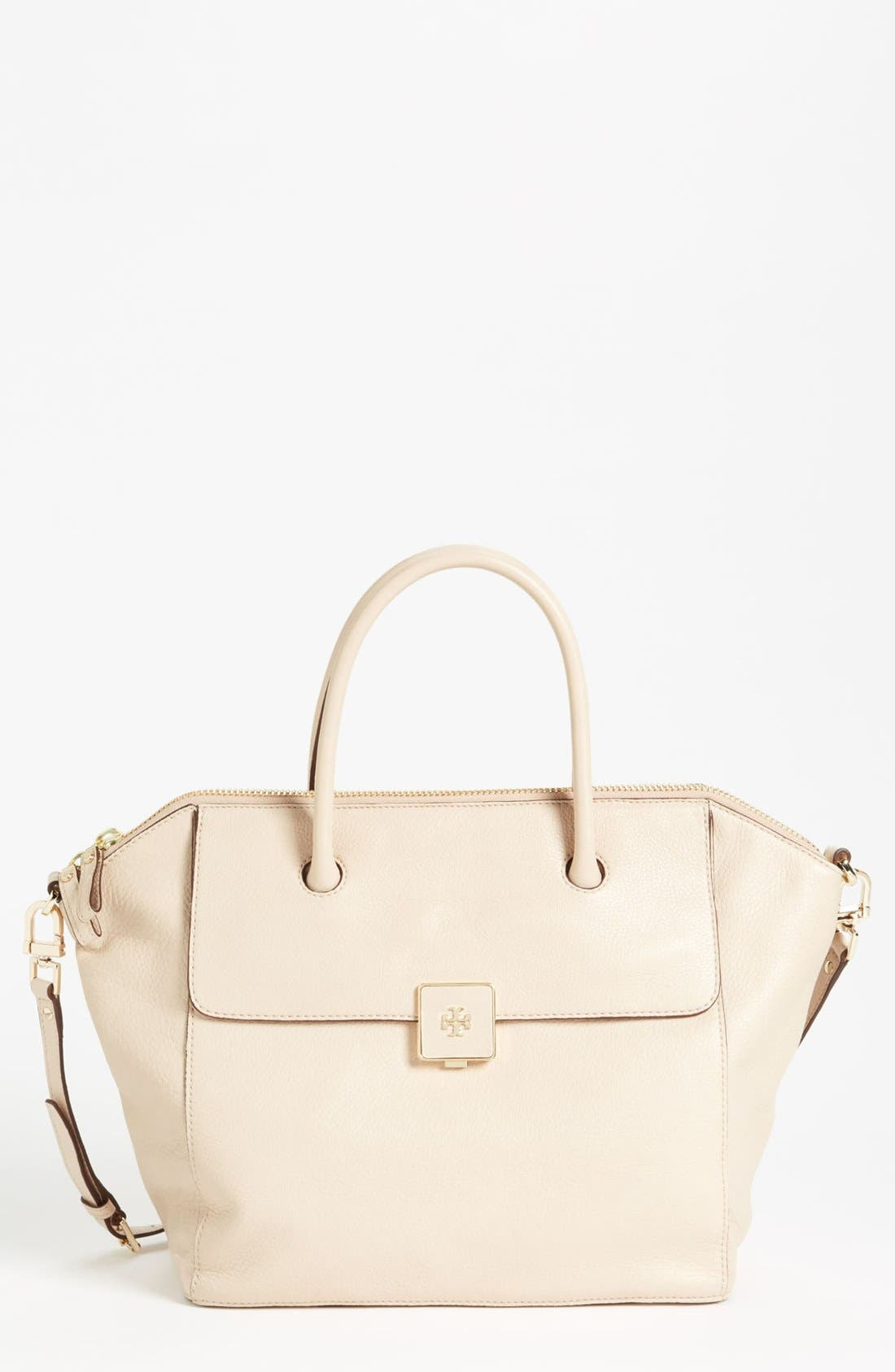 Alternate Image 1 Selected - Tory Burch 'Clara - Large' Leather Satchel