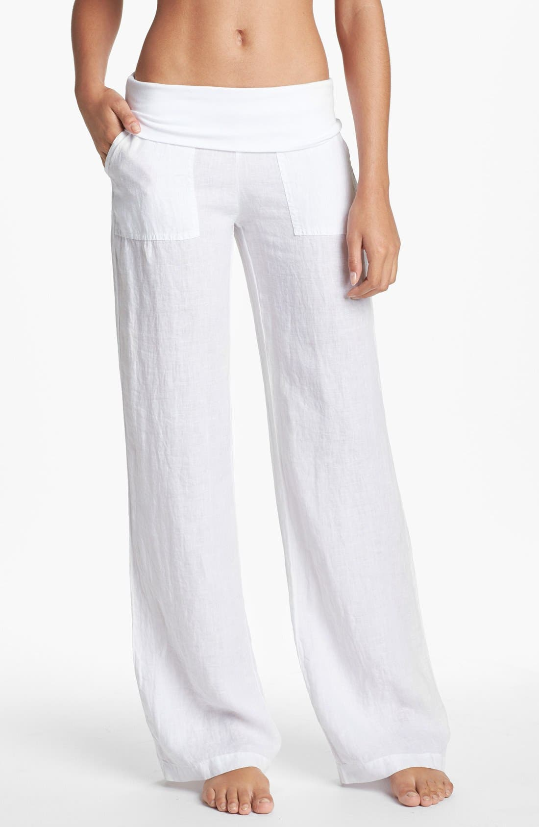 Alternate Image 1 Selected - Solow Wide Leg Linen Pants