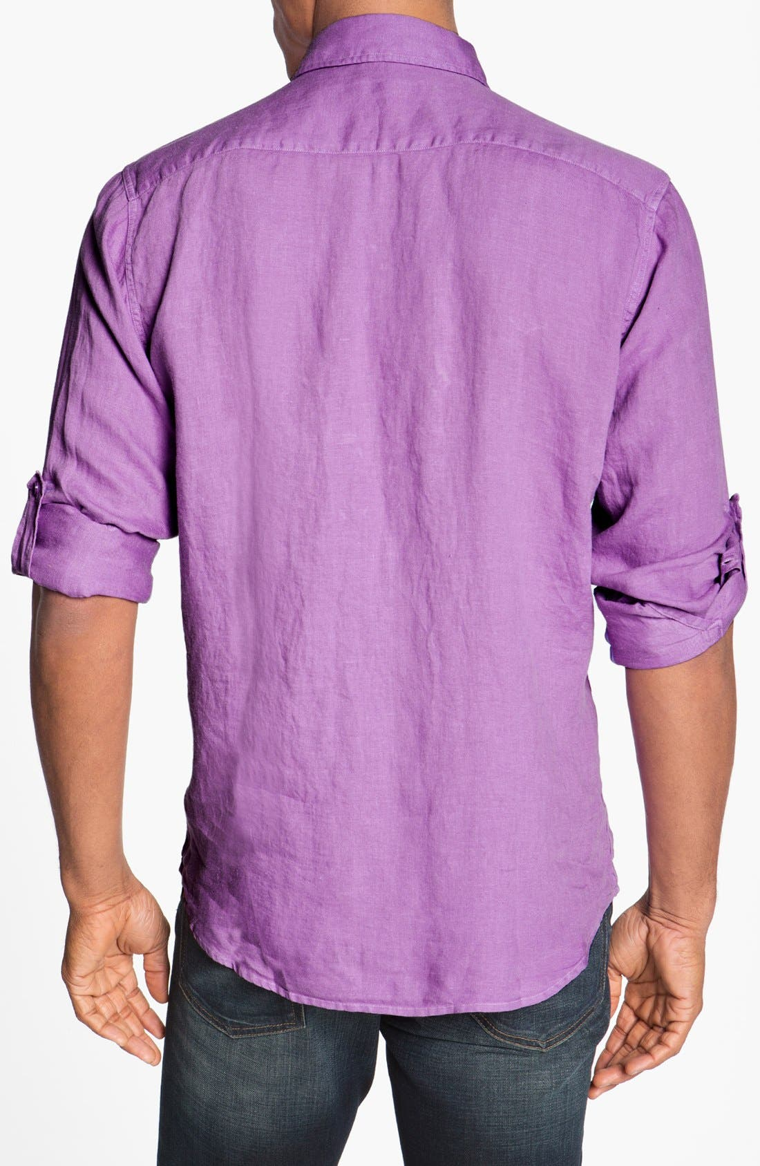 Alternate Image 2  - Toscano Regular Fit Linen Sport Shirt