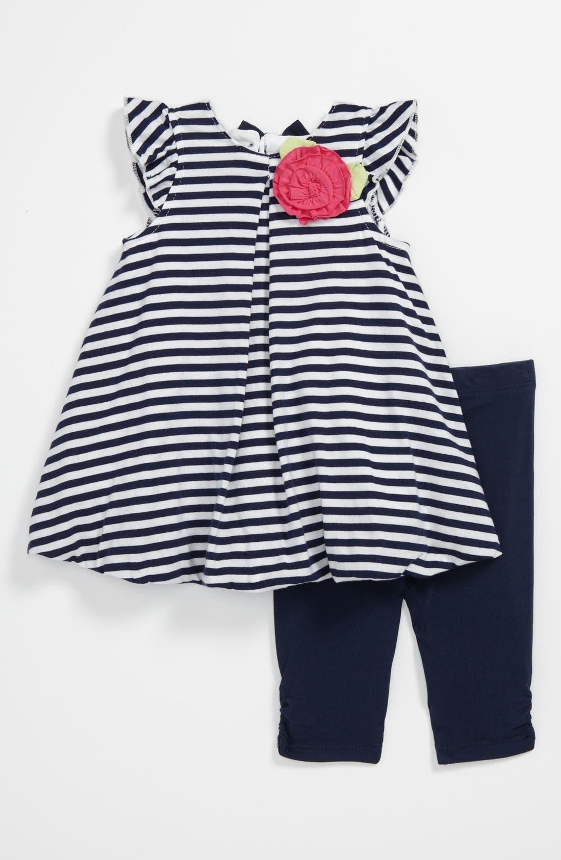 Main Image - Little Me 'Nautical' Tunic & Leggings (Baby)