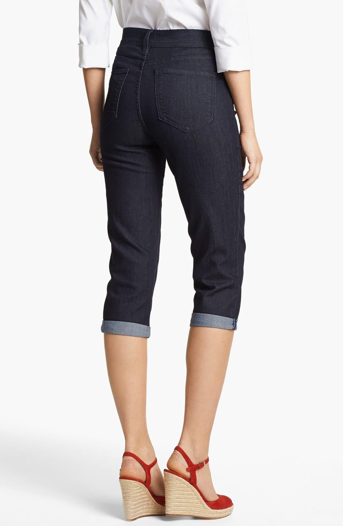 Alternate Image 2  - NYDJ 'Fiona' Roll Cuff Crop Stretch Jeans