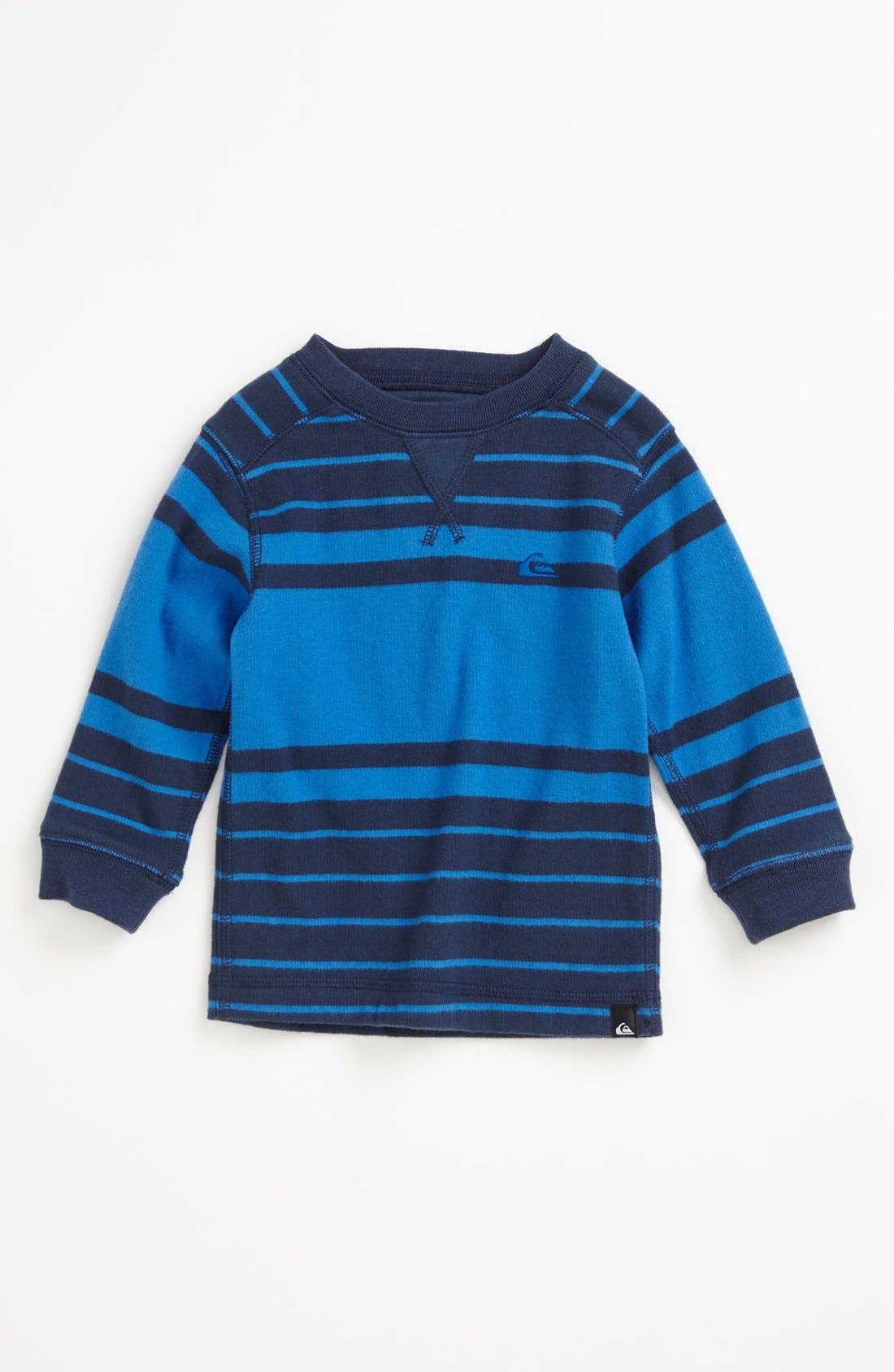 Alternate Image 1 Selected - Quiksilver 'Snit' Stripe Shirt (Toddler Boys)